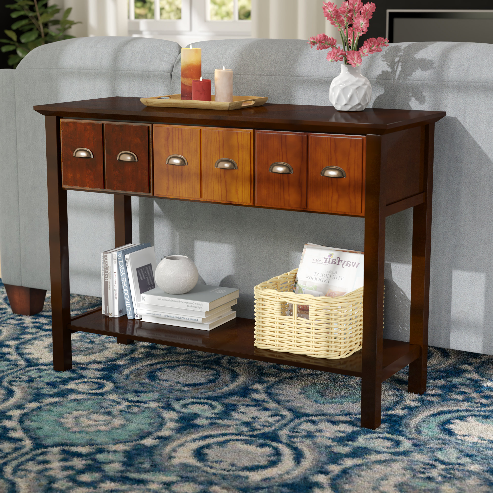 Apothecary Sink Consoles | Wayfair With Layered Wood Small Square Console Tables (View 1 of 20)