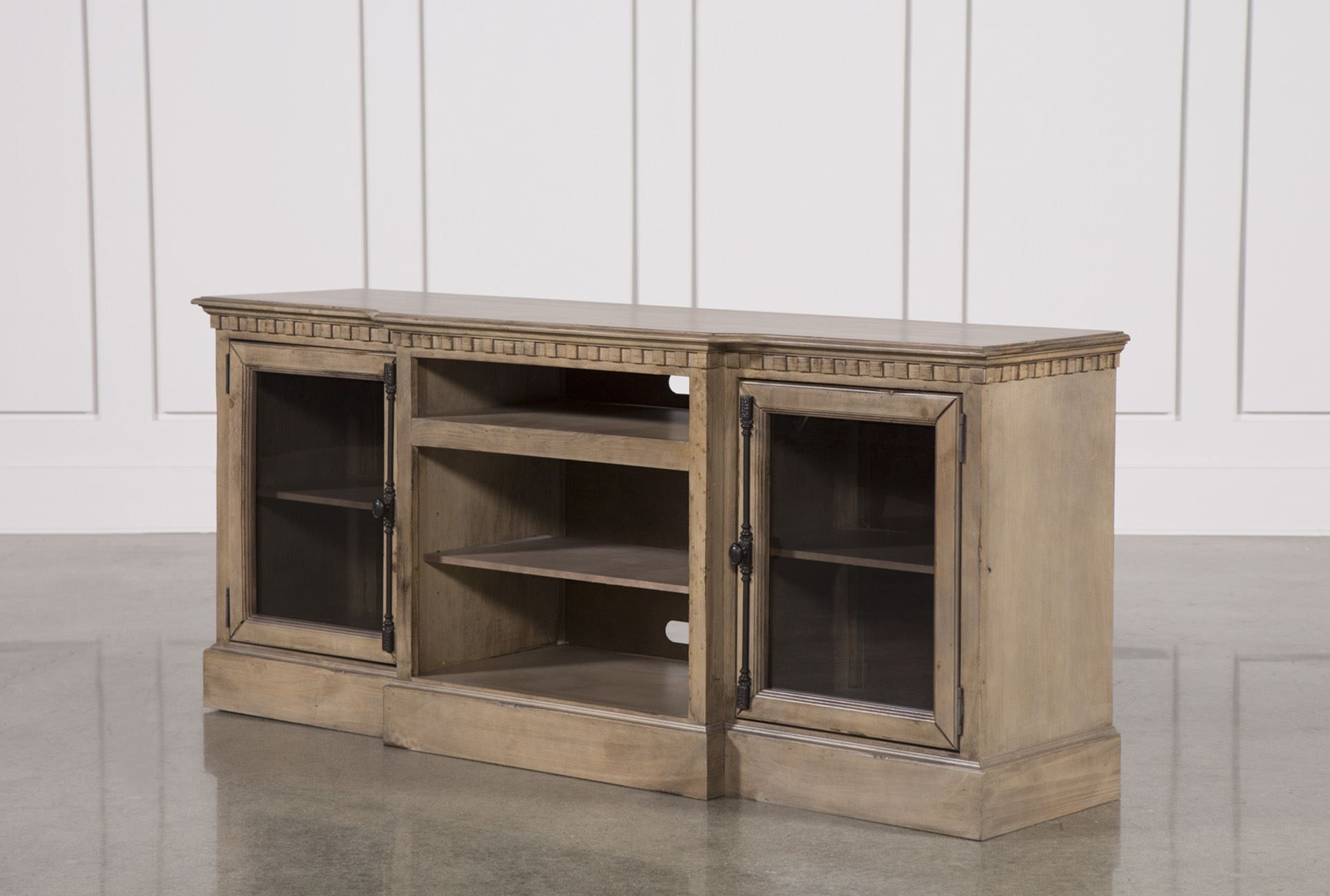 Arabella 74 Inch Tv Stand In Bale Rustic Grey 82 Inch Tv Stands (View 4 of 20)