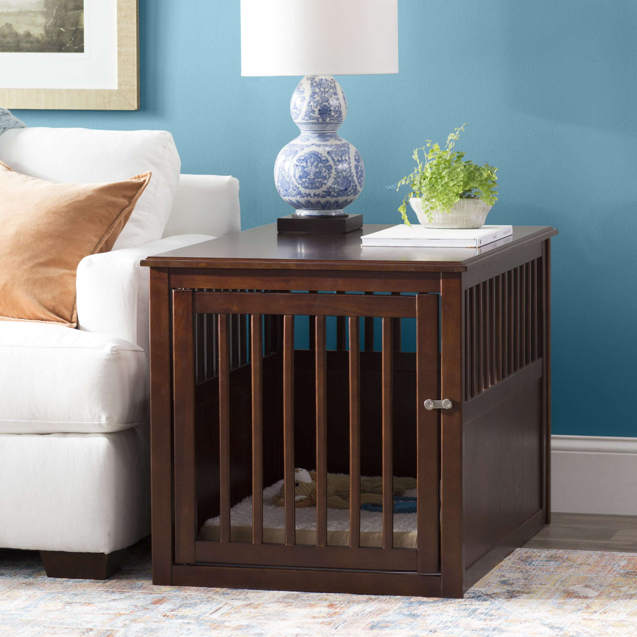 Archie & Oscar Anson Crown Pet Crate & Reviews | Wayfair Throughout Oscar 60 Inch Console Tables (Gallery 20 of 20)