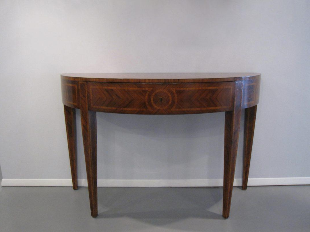 Artist's Originals Demilune Console Tablebutler — Oz Visuals Intended For Clairemont Demilune Console Tables (View 16 of 20)