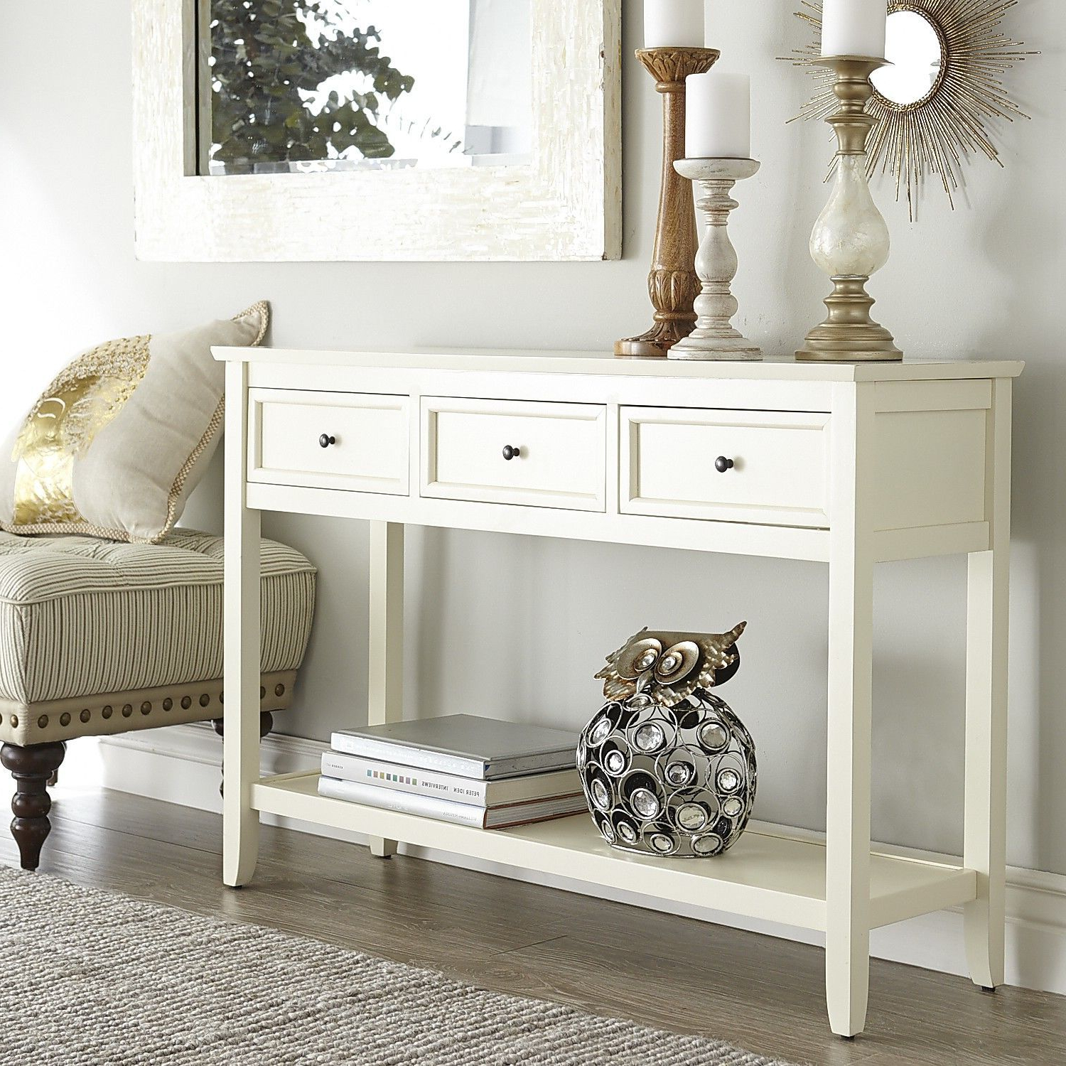 Ashington Console Table – Antique White | Pier 1 Imports | Ballston With Hand Carved White Wash Console Tables (View 14 of 20)