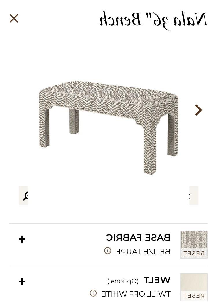 Ballard Nala Bench As Coffee Table | Vestibule | Vestibule, Bench, Table Inside Parsons Travertine Top & Brass Base 48x16 Console Tables (View 16 of 20)
