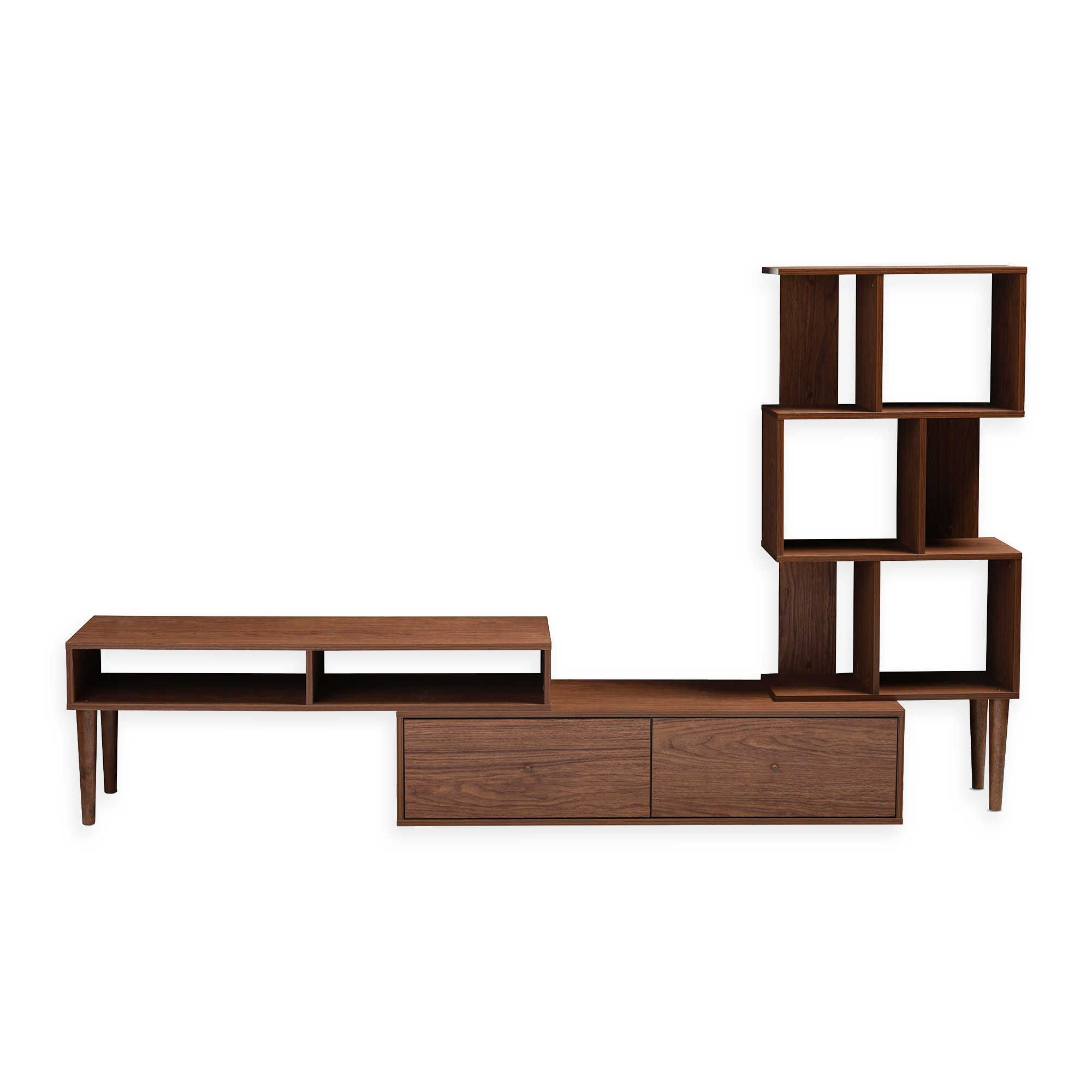 Baxton Studio Tv Cabinet Table Wales Stand Espresso At Home With Inside Dixon White 58 Inch Tv Stands (View 9 of 20)