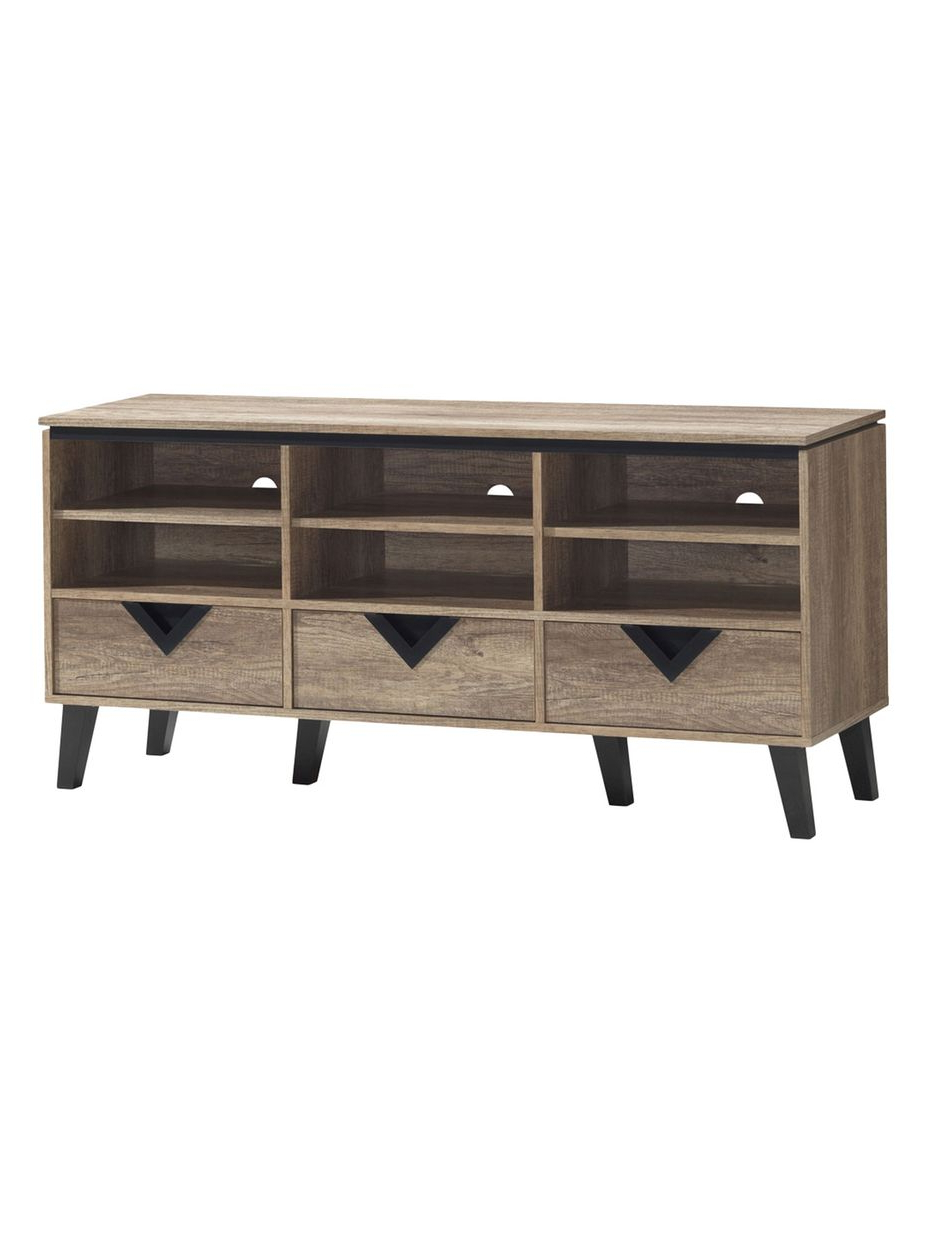 Baxton Studio Tv Cabinet Table Wales Stand Espresso At Home With Within Dixon White 58 Inch Tv Stands (View 17 of 20)