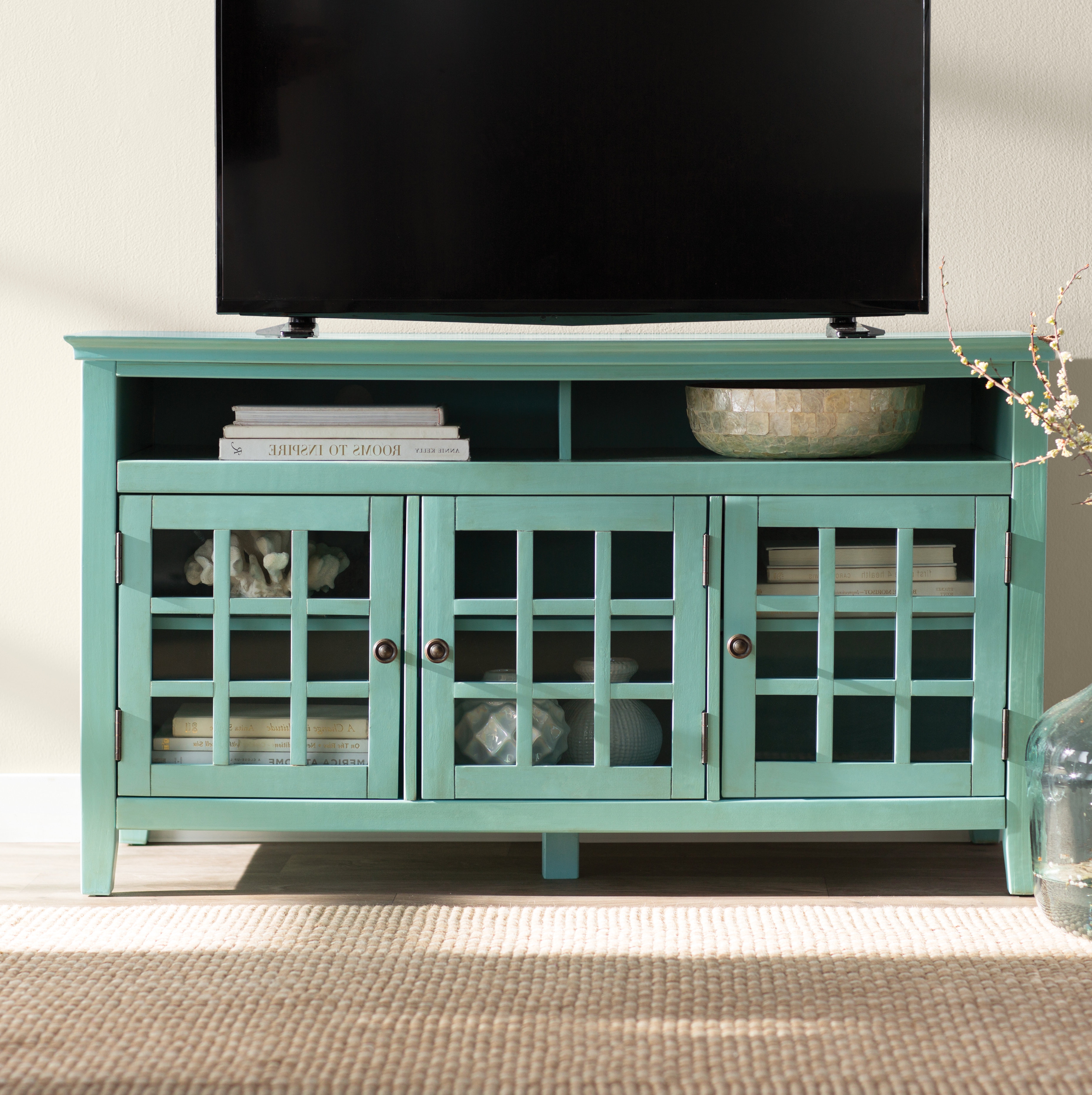 """Beachcrest Home Naples Park Tv Stand For Tvs Up To 55"""" & Reviews Regarding Marvin Rustic Natural 60 Inch Tv Stands (View 3 of 20)"""