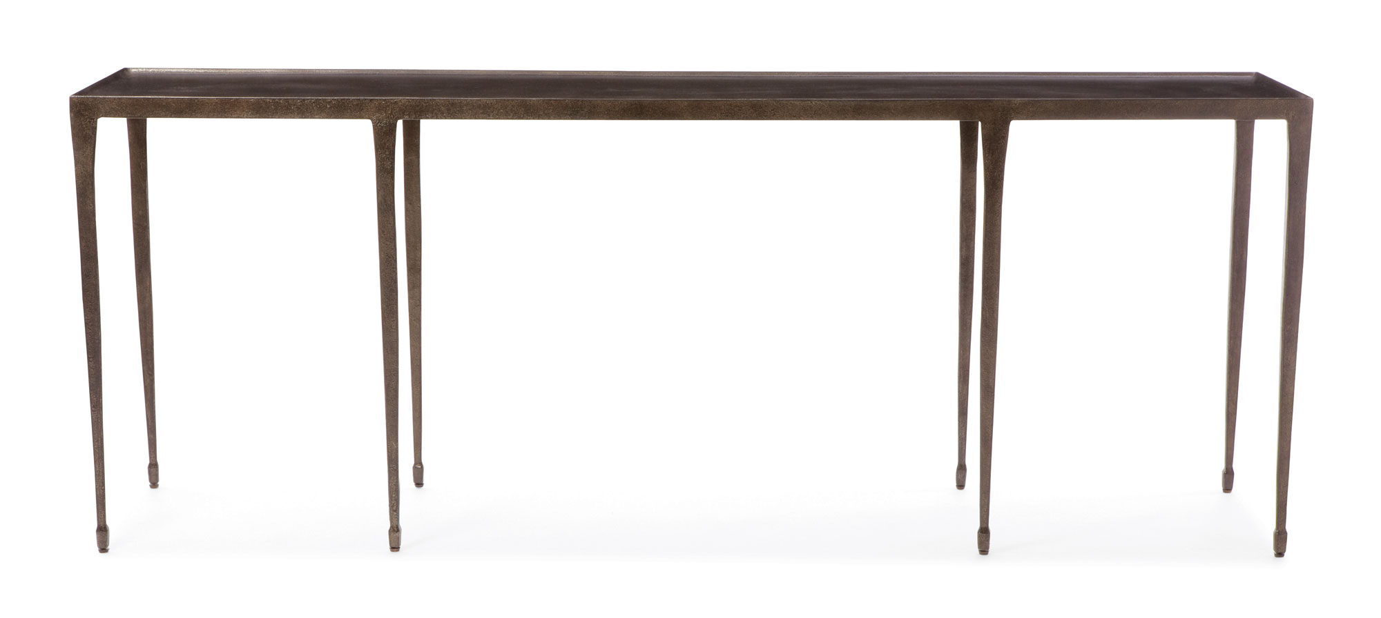 Bernhardt Console Table Halden 84 Inch Hammered Iron Distressed Throughout Silviano 84 Inch Console Tables (View 2 of 20)