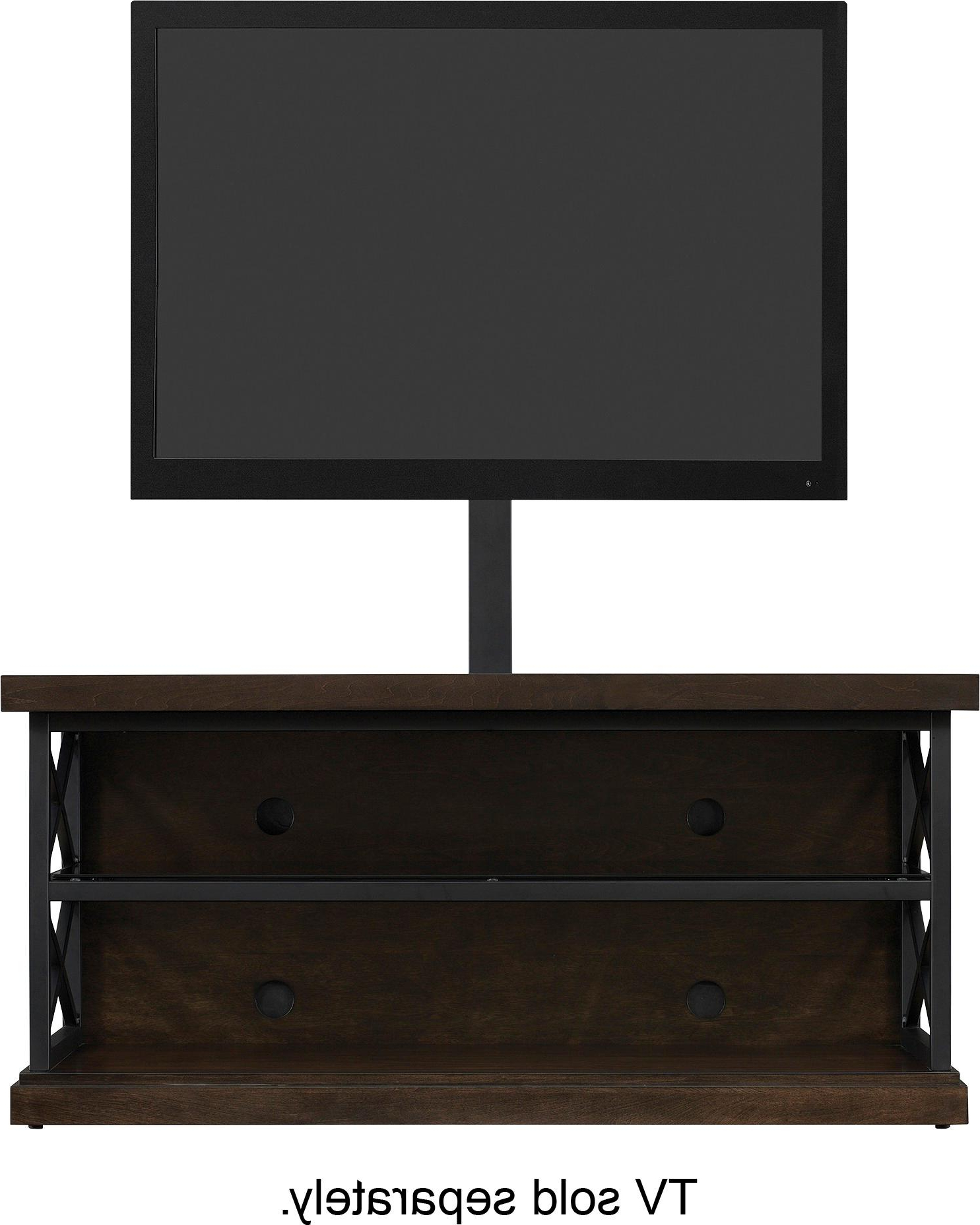 "Best Buy: Bell'o Triple Play Tv Stand For Most Tvs Up To 55"" Brown Pertaining To Abbot 60 Inch Tv Stands (View 20 of 20)"