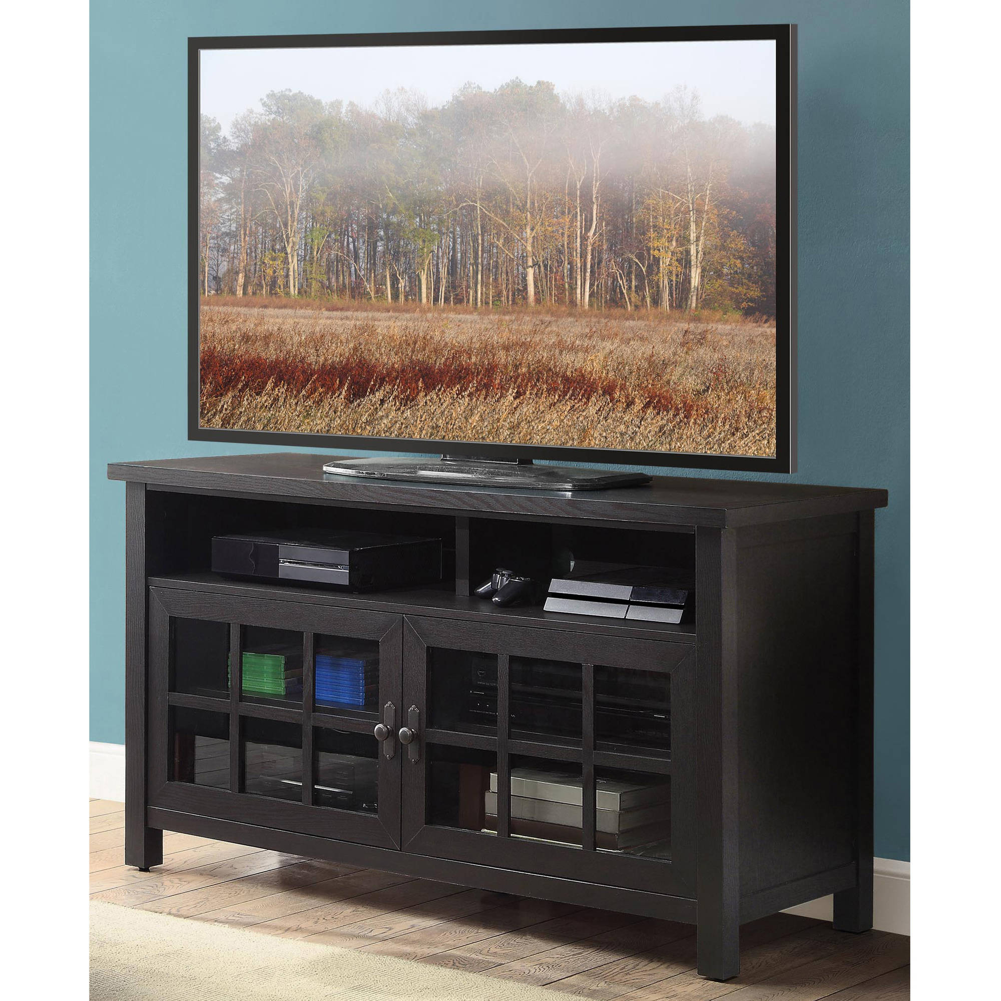 Better Homes And Gardens Oxford Square Av Console For Tv's Up To 60 Pertaining To Oxford 60 Inch Tv Stands (Gallery 2 of 20)