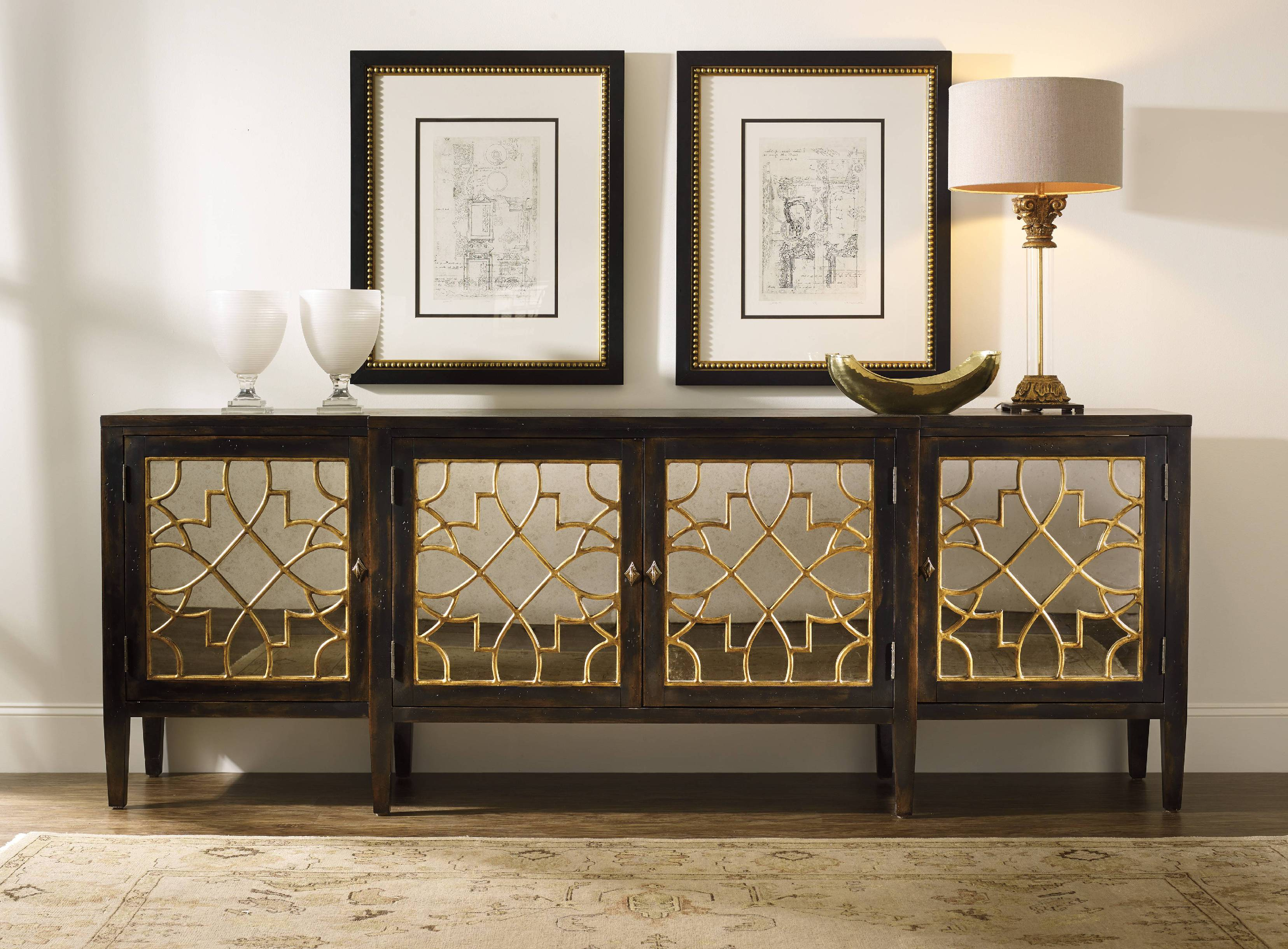 Between Wood And Glass Long Console Tables | Homesfeed Pertaining To Natural Wood Mirrored Media Console Tables (View 3 of 20)