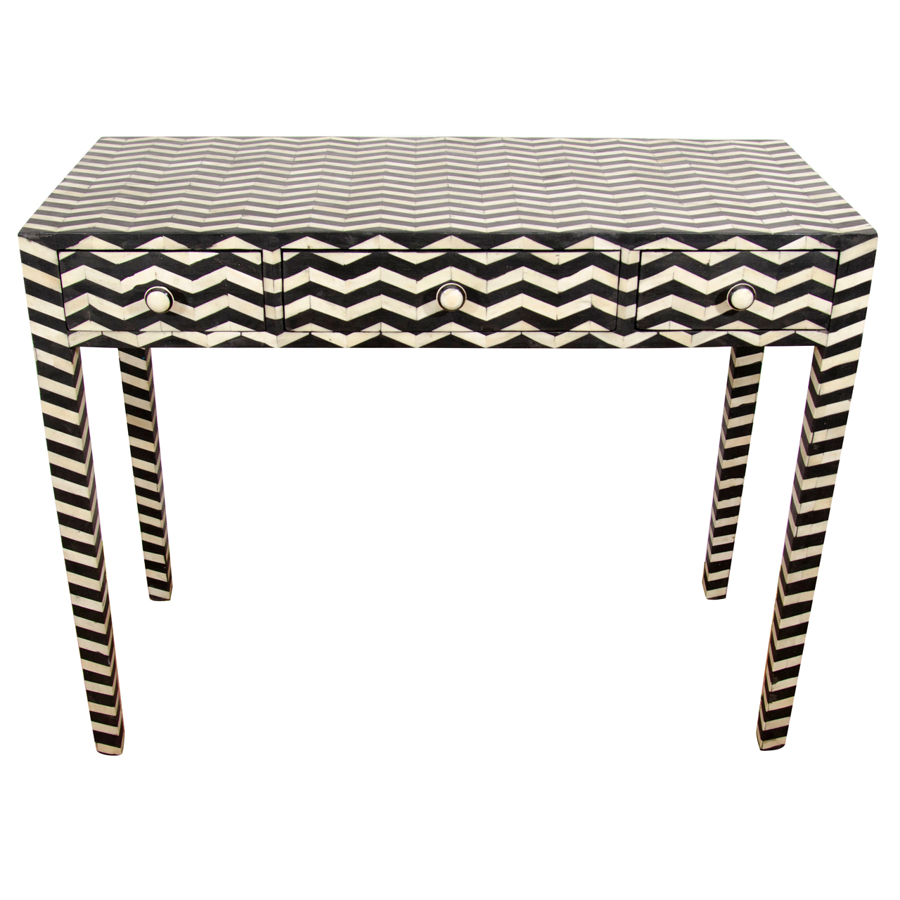 Black And White Bone Inlay Side Table | Furniture Design | Black For Black And White Inlay Console Tables (View 2 of 20)