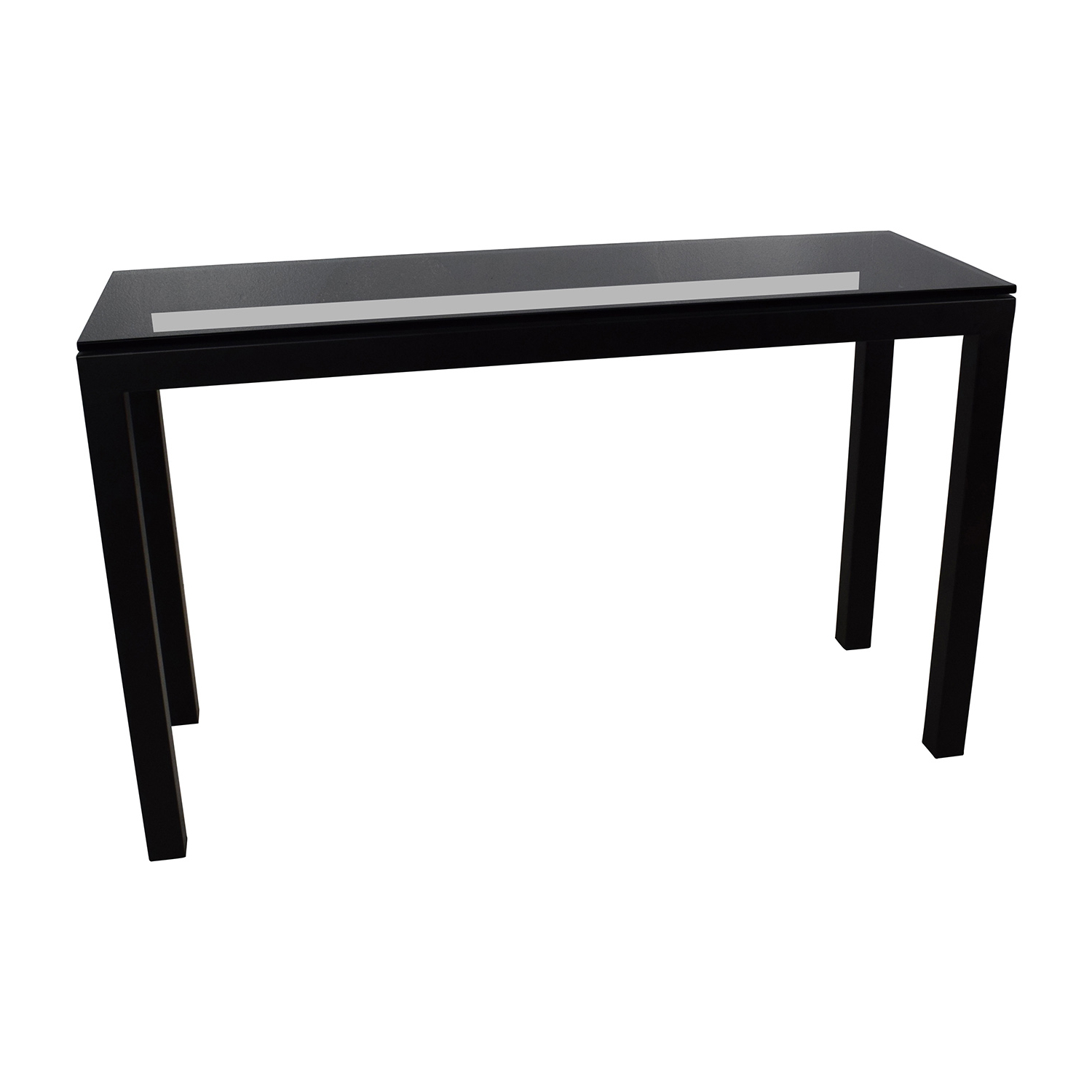 Black Parsons Console Table @wt26 | Wendycorsistaubcommunity Regarding Parsons Clear Glass Top & Stainless Steel Base 48X16 Console Tables (Gallery 6 of 20)
