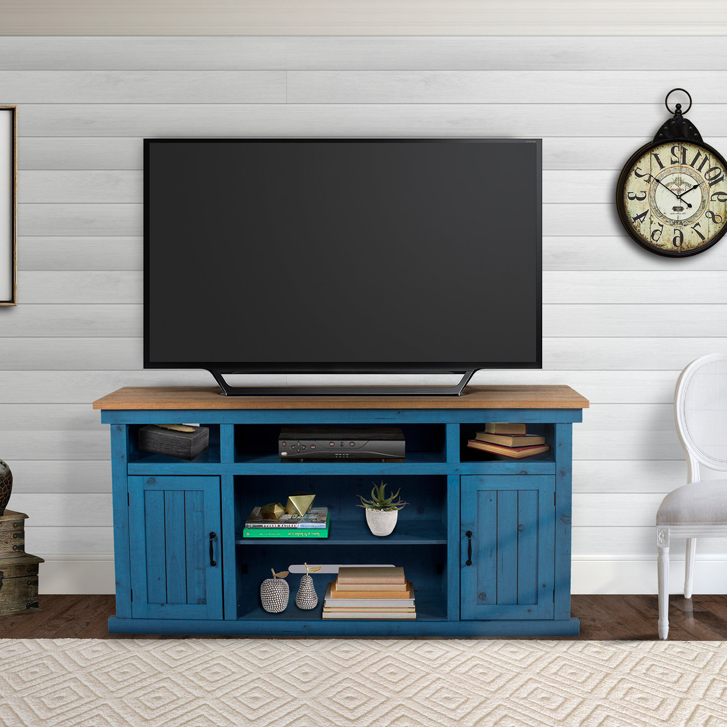 Blue Tv Stands You'll Love | Wayfair For Century Sky 60 Inch Tv Stands (View 5 of 20)