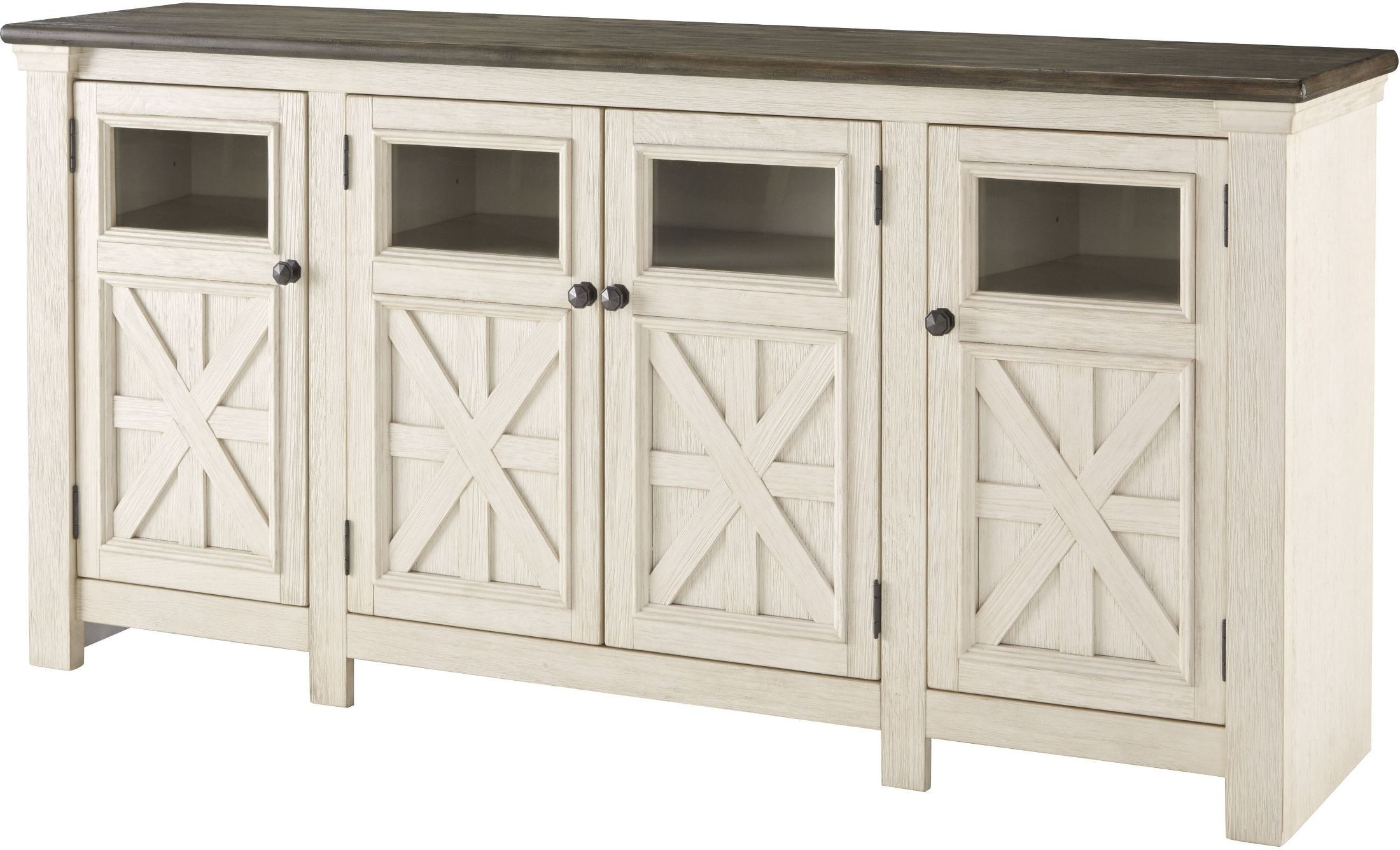 Bolanburg Weathered Gray Extra Large Tv Stand From Ashley   Coleman Inside Vista 60 Inch Tv Stands (View 17 of 20)