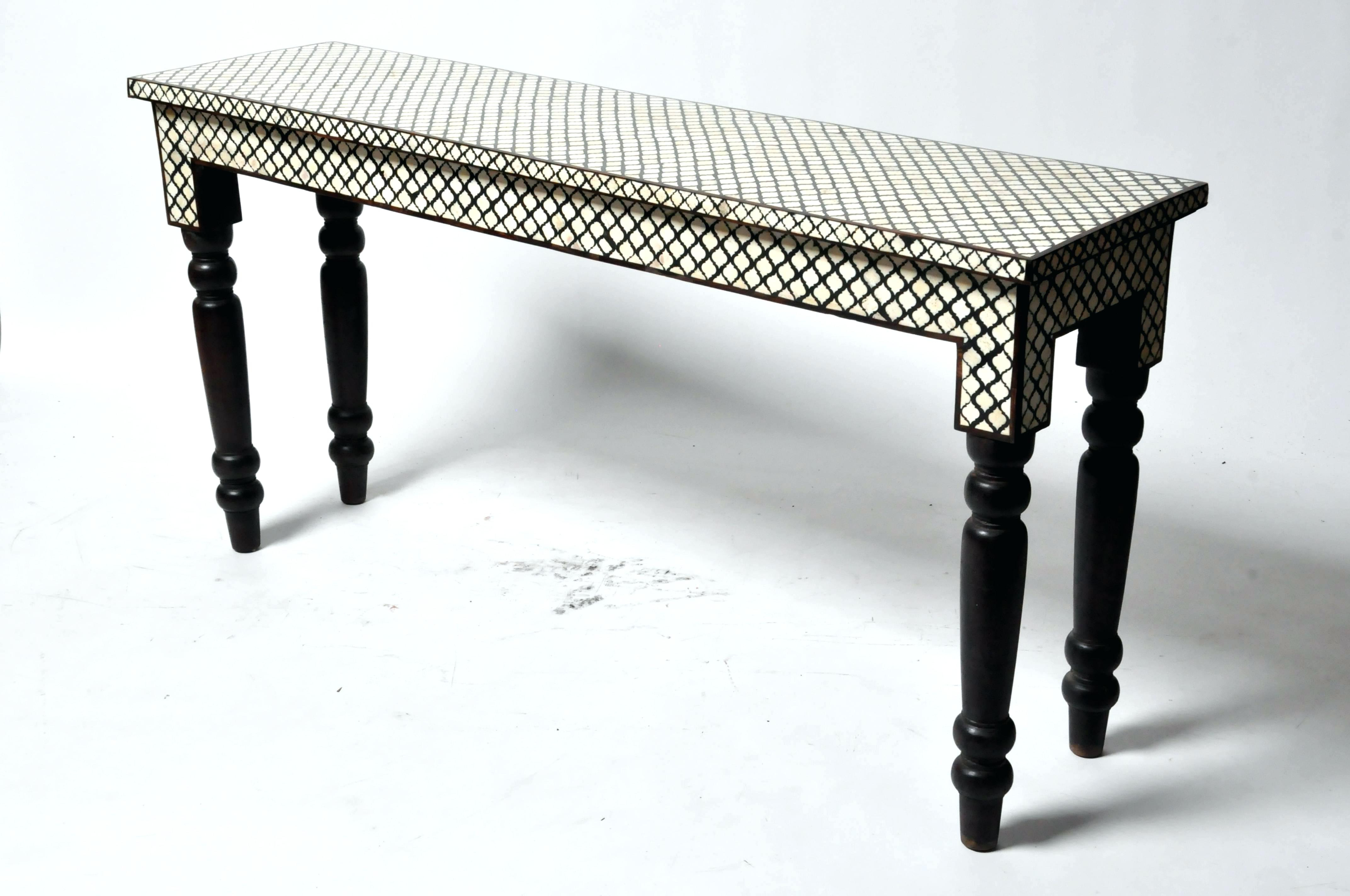 Bone Inlay Console Table Butler Black Bone Inlay Console Table Black For Black And White Inlay Console Tables (View 10 of 20)