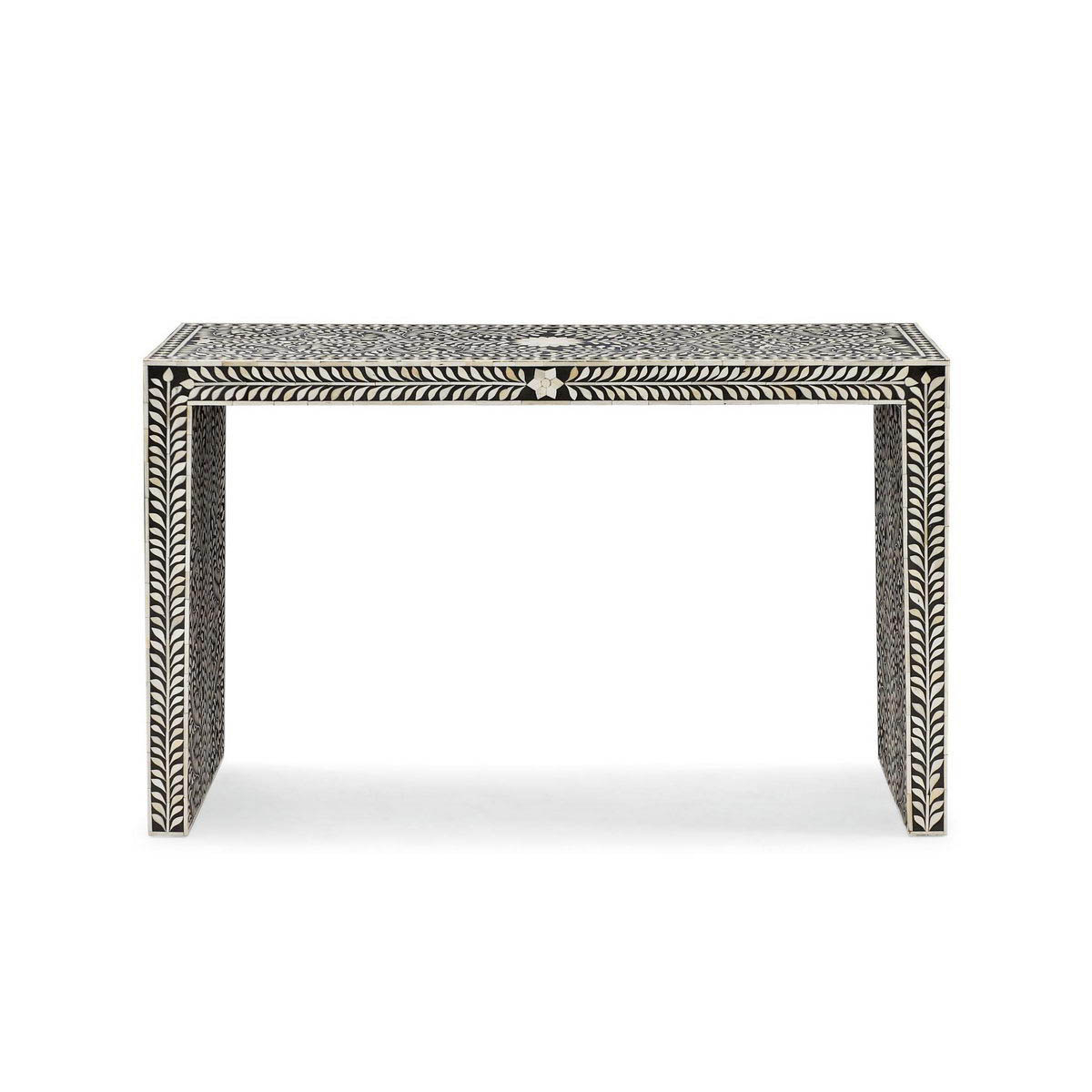 Bone Inlay Console – Vae 1590 – Variety Arts Emporium Regarding Black And White Inlay Console Tables (View 17 of 20)