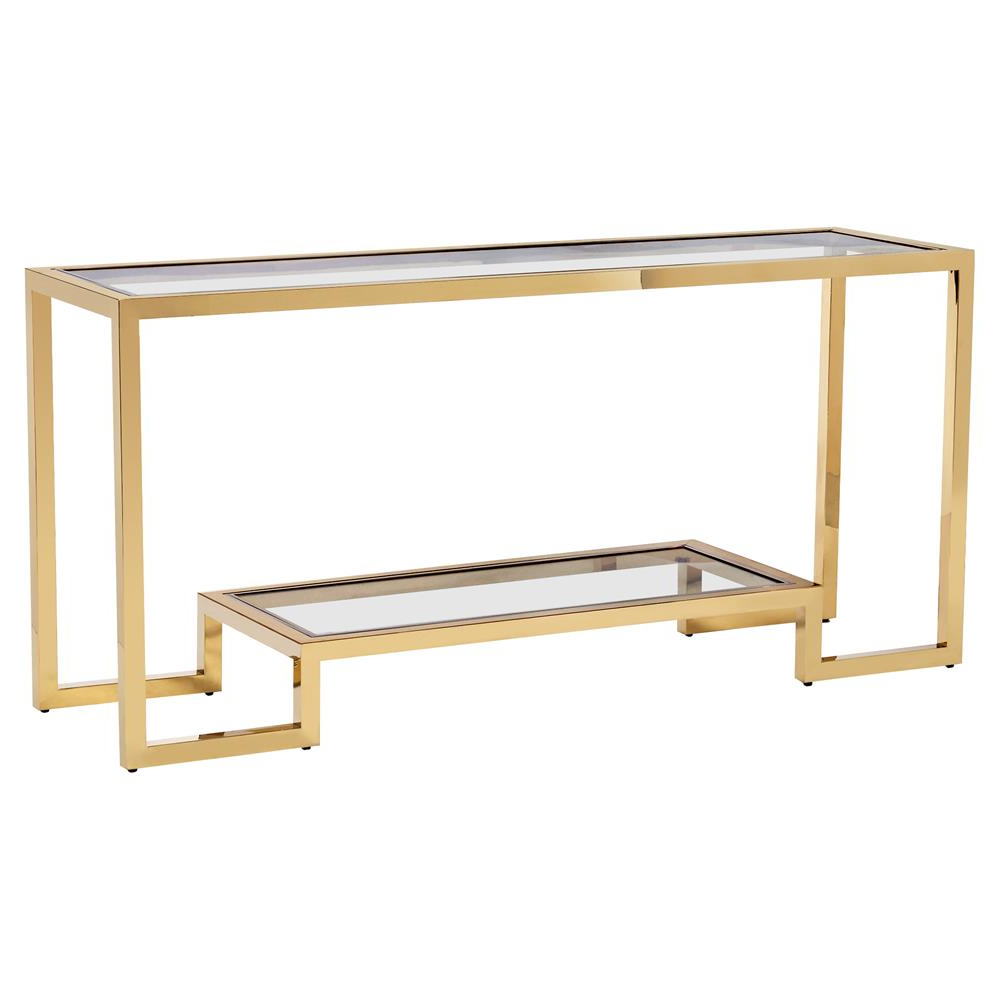 Brass Console Table Intended For Elke Glass Console Tables With Brass Base (View 1 of 20)