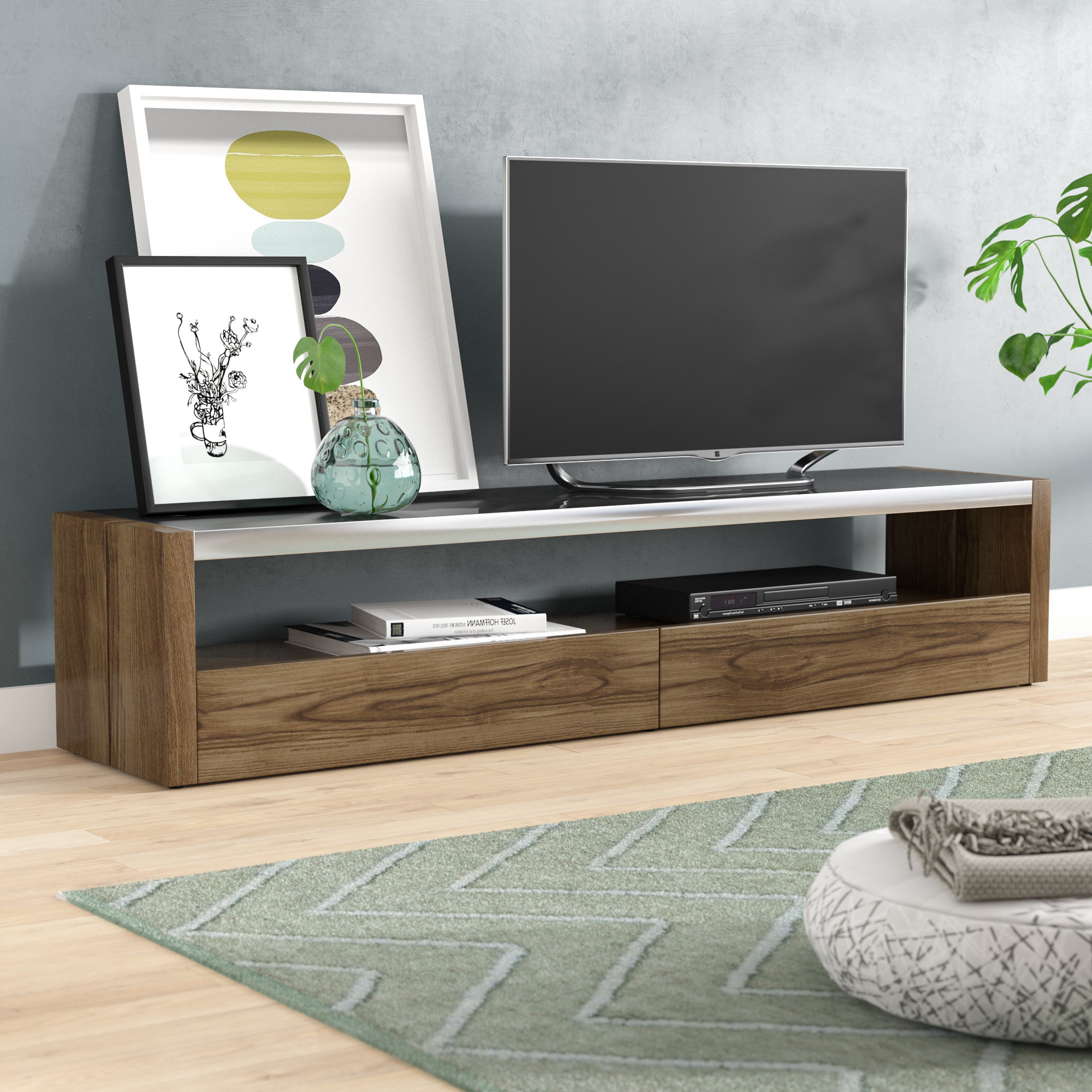 "Brayden Studio Ahl Tv Stand For Tvs Up To 78"" & Reviews 