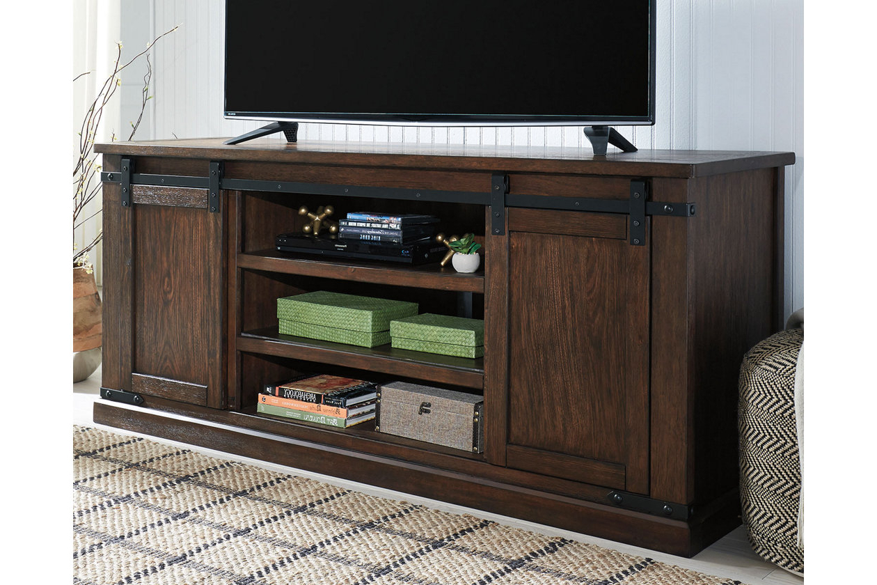 Budmore Tv Stand | Ashley Furniture Homestore | Apartment Buys Regarding Sinclair Grey 64 Inch Tv Stands (View 20 of 20)