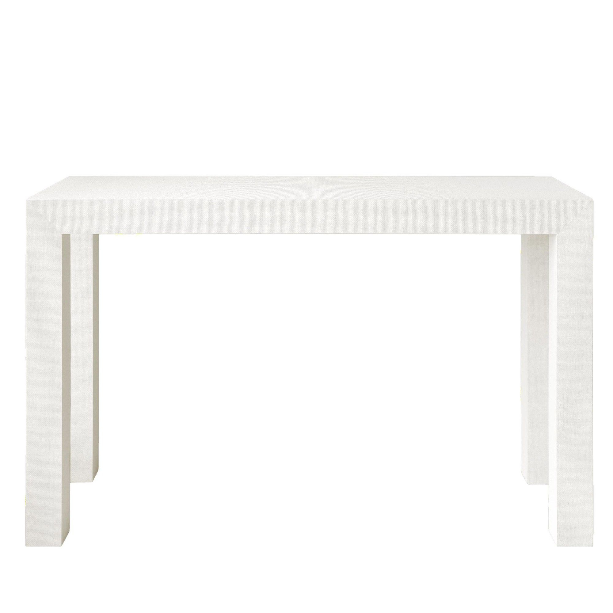 Bungalow 5 Parsons Console In White | White Texture, Consoles And With Regard To Parsons Grey Marble Top & Brass Base 48X16 Console Tables (Gallery 9 of 20)