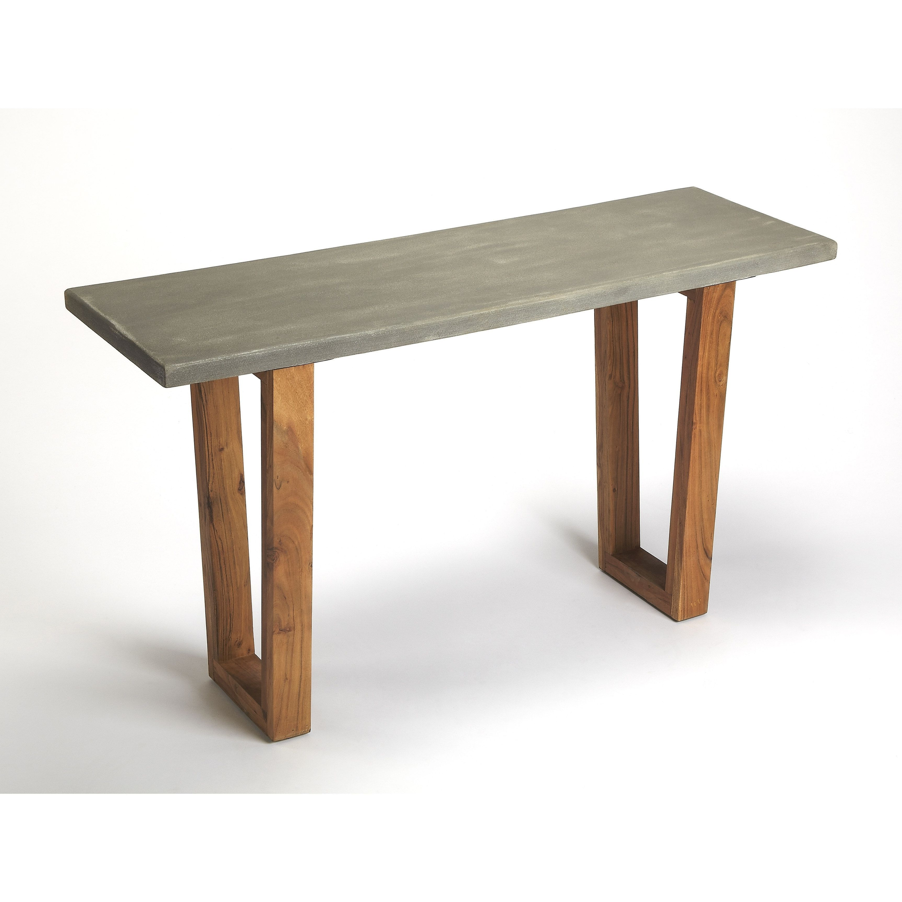 Butler Massey Concrete & Wood Console Table, Multi | Products Inside Yukon Natural Console Tables (View 16 of 20)