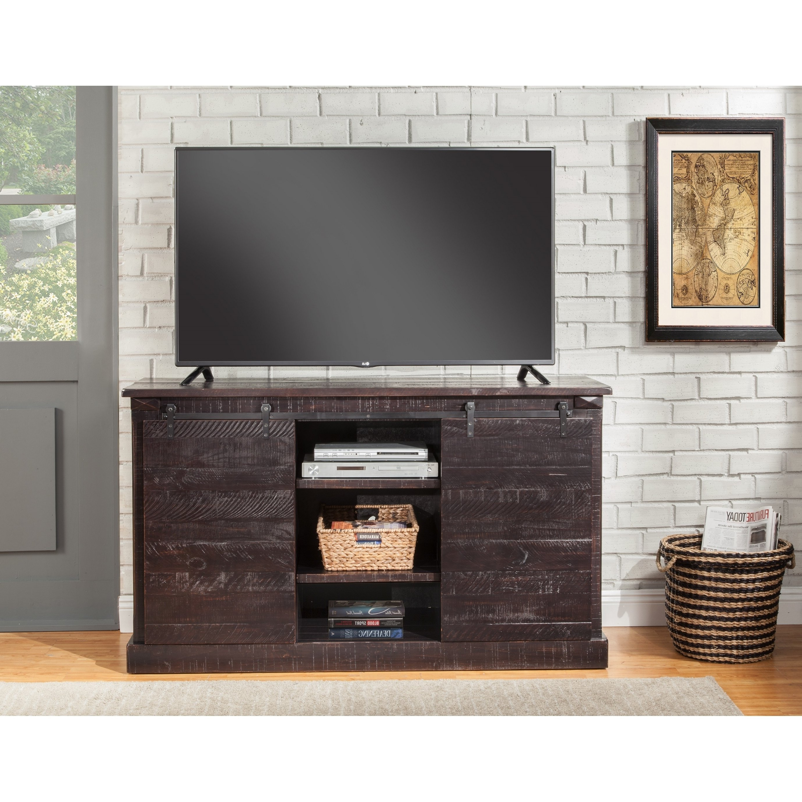 Buy Black, Rustic Tv Stands & Entertainment Centers Online At Pertaining To Wakefield 97 Inch Tv Stands (View 9 of 20)