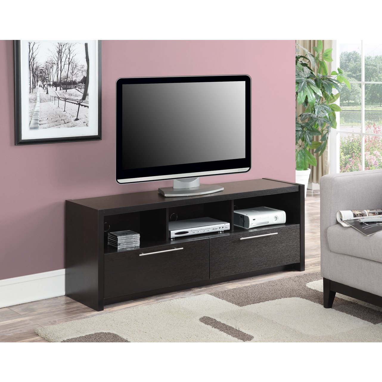 Buy Brown, Modern & Contemporary Tv Stands & Entertainment Centers With Rowan 74 Inch Tv Stands (View 14 of 20)