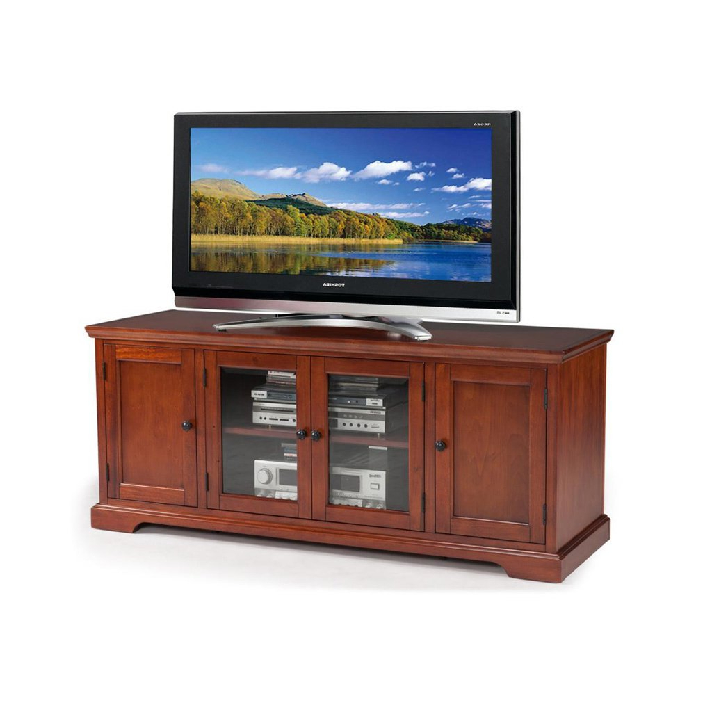 Buy Cherry Finish, 42 – 60 Inches Tv Stands & Entertainment Centers Pertaining To Wakefield 67 Inch Tv Stands (View 2 of 20)