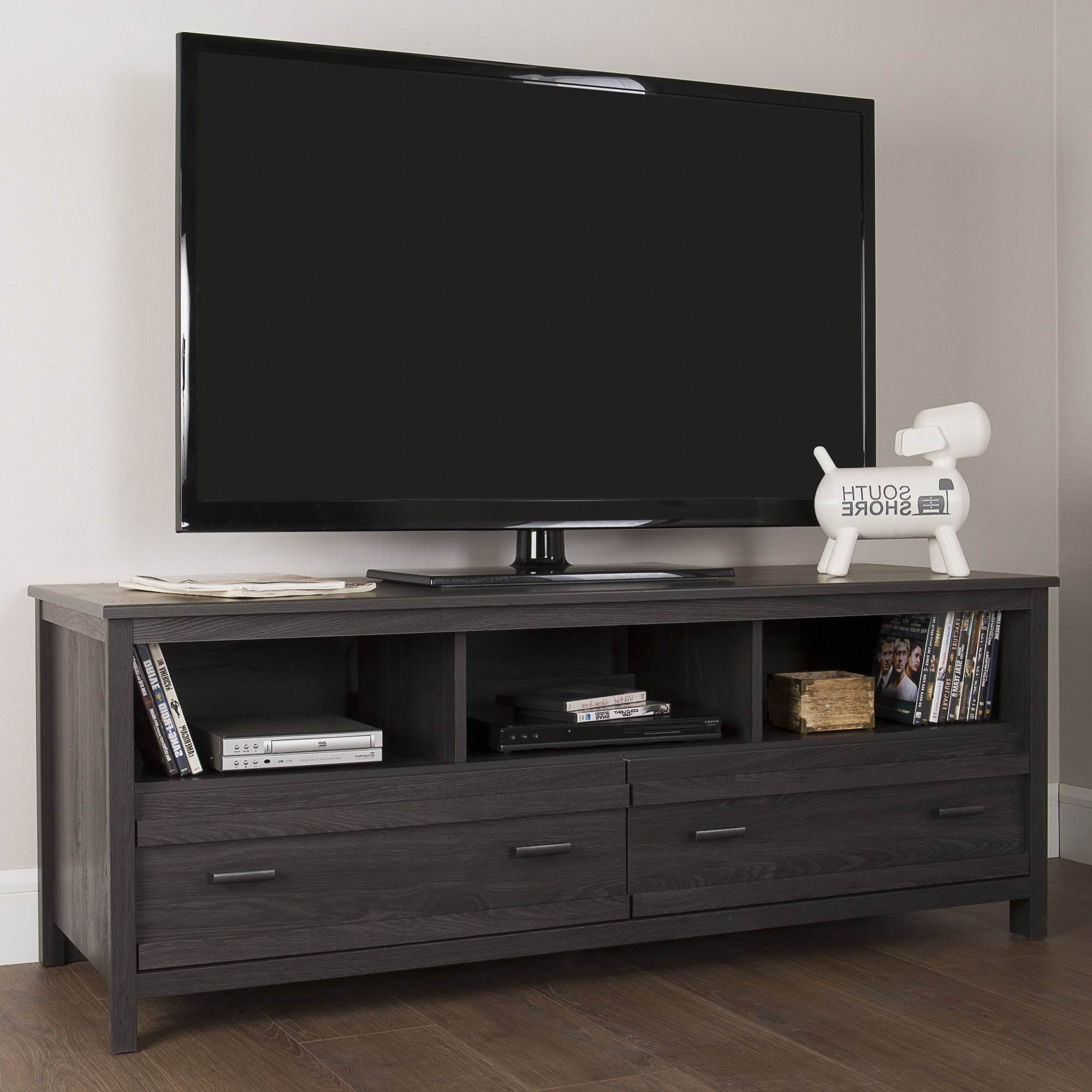 Buy Grey, 42 – 60 Inches Tv Stands & Entertainment Centers Online At With Rowan 45 Inch Tv Stands (View 7 of 20)