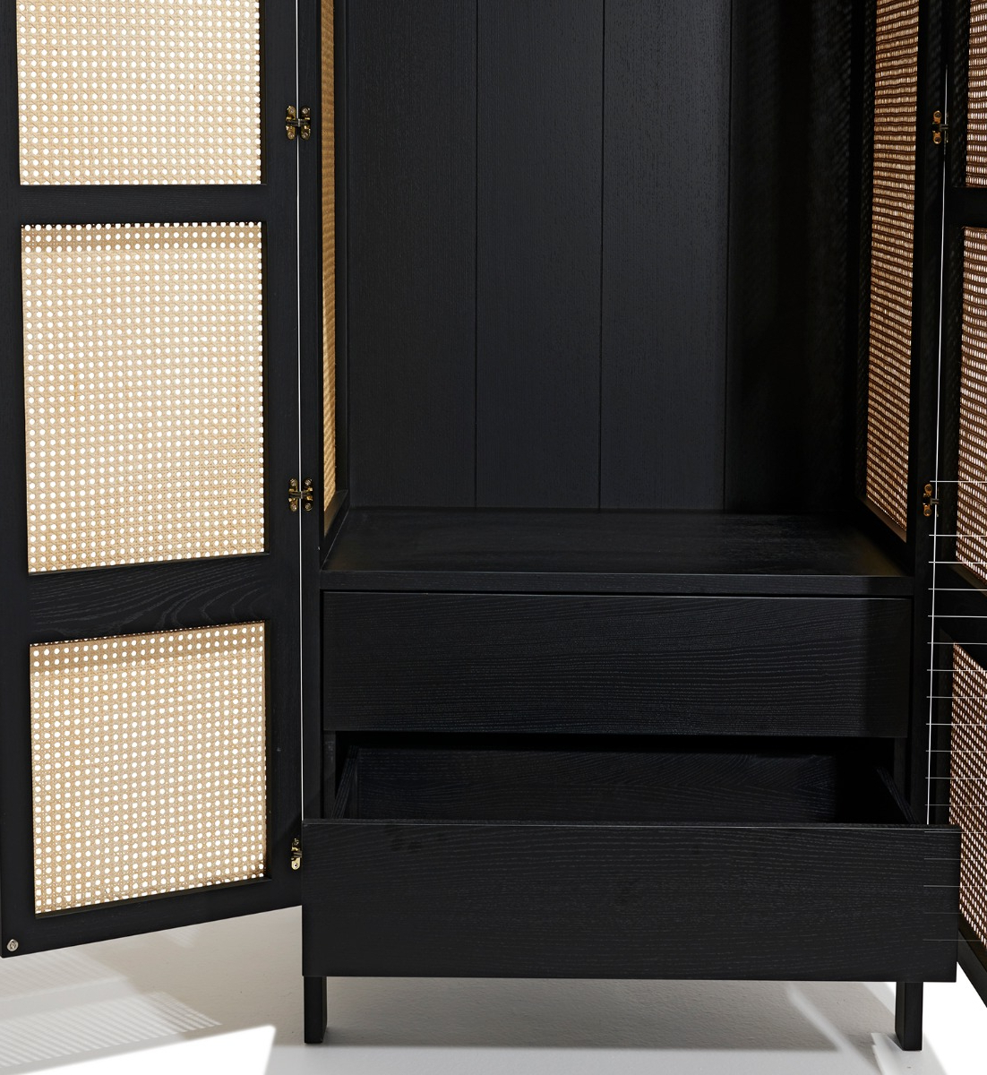 Cane Wardrobe Inside Natural Cane Media Console Tables (Gallery 14 of 20)