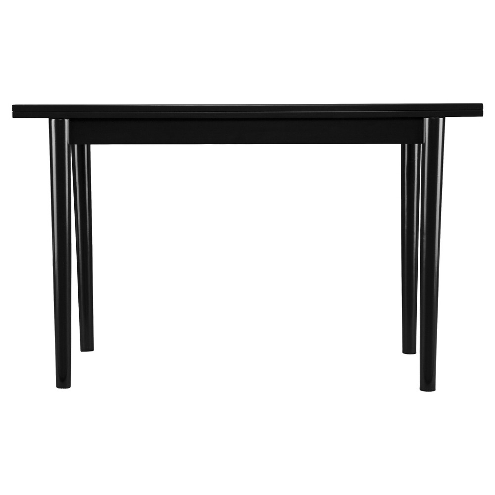 Caplow Flip Top Convertible Console To Dining Table – Black – Aiden For Parsons Black Marble Top & Elm Base 48X16 Console Tables (View 1 of 20)