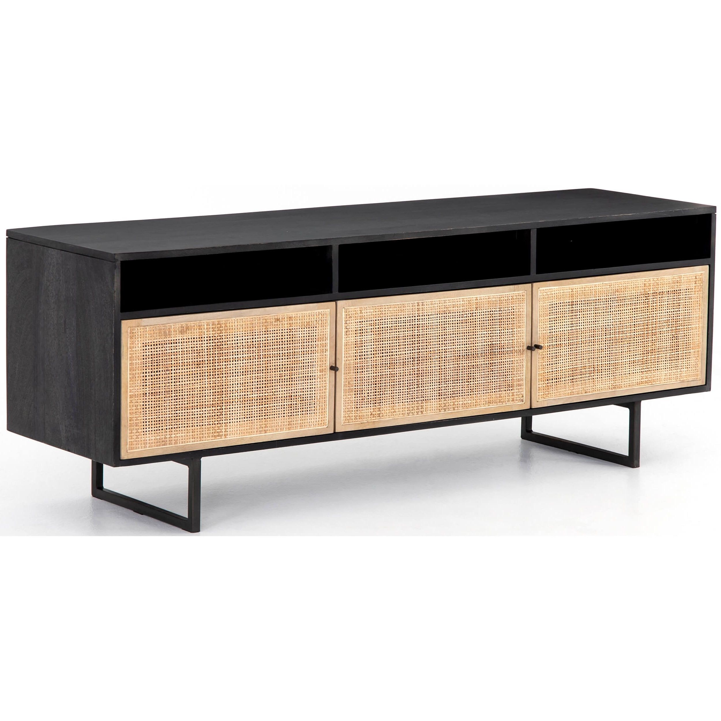 Carmel Media Console, Black – Console Tables – Accent Tables – Furniture For Gunmetal Media Console Tables (View 8 of 20)