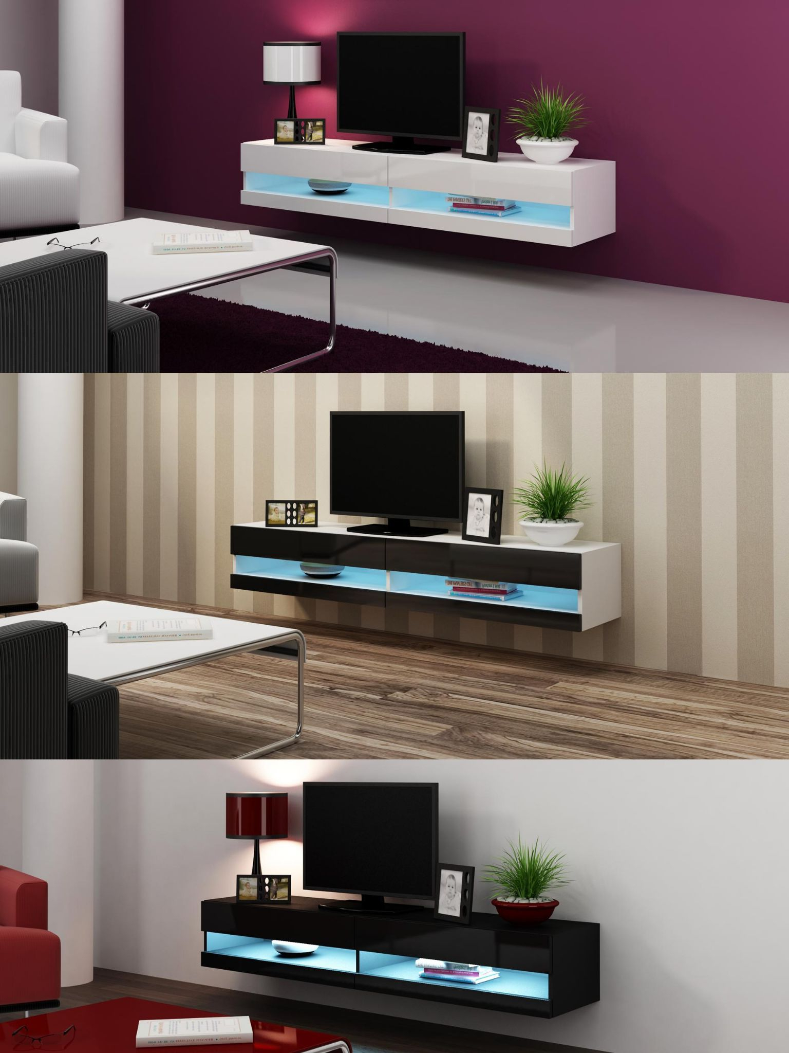 Caspian® Vigo Tv Unit 180 – Oak, Grey, Latte, Black & White Color Throughout Dixon White 65 Inch Tv Stands (View 7 of 20)