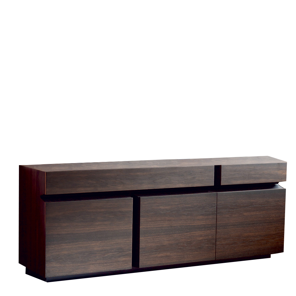 Cattelan Italia Prisma Burned Oak Sideboard | Sideboards | Dining Room Inside Burnt Oak Metal Sideboards (Gallery 2 of 20)