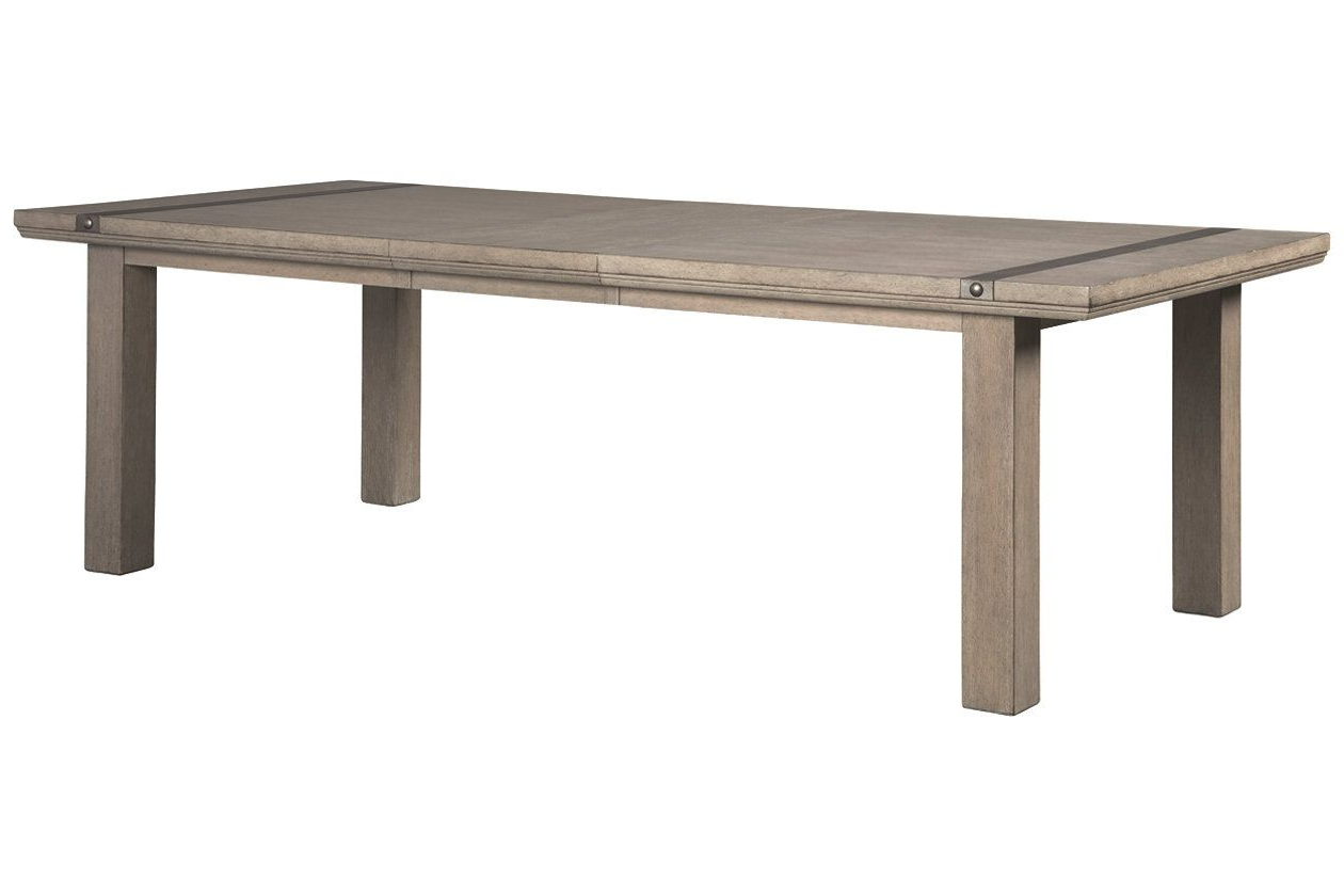Chapstone Dining Room Table | Ashley Furniture Homestore | Fine Intended For Parsons Concrete Top & Elm Base 48X16 Console Tables (View 2 of 20)