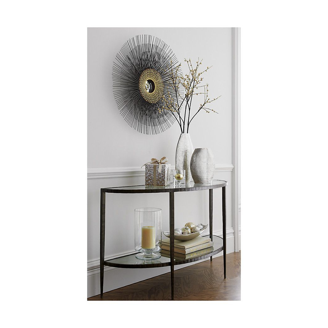 Clairemont Demilune Console Table | Foyer | Pinterest | Round Wall Inside Clairemont Demilune Console Tables (View 3 of 20)