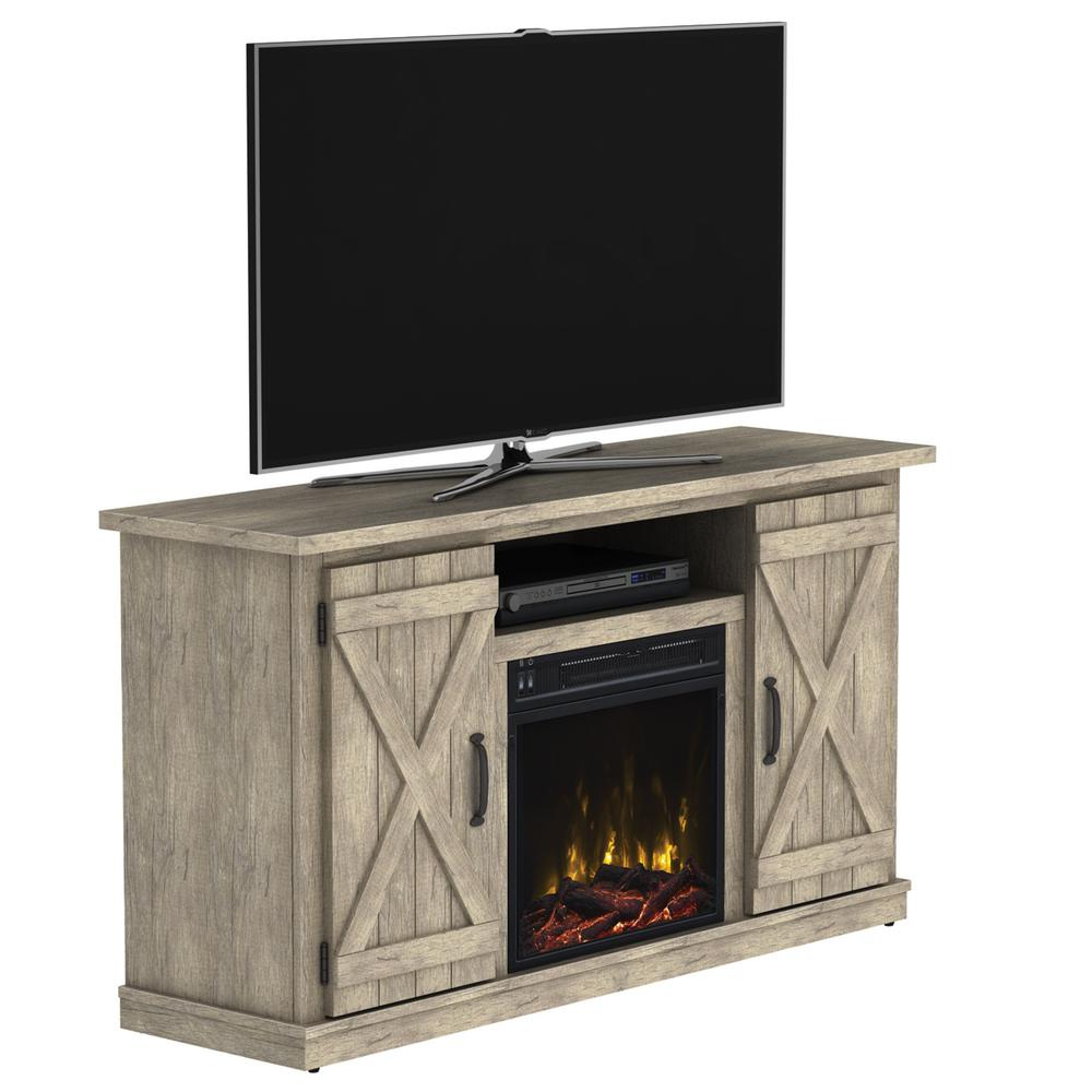Classic Flame Cottonwood 47.50 In. Media Console Electric Fireplace Within Kilian Grey 60 Inch Tv Stands (Gallery 3 of 20)