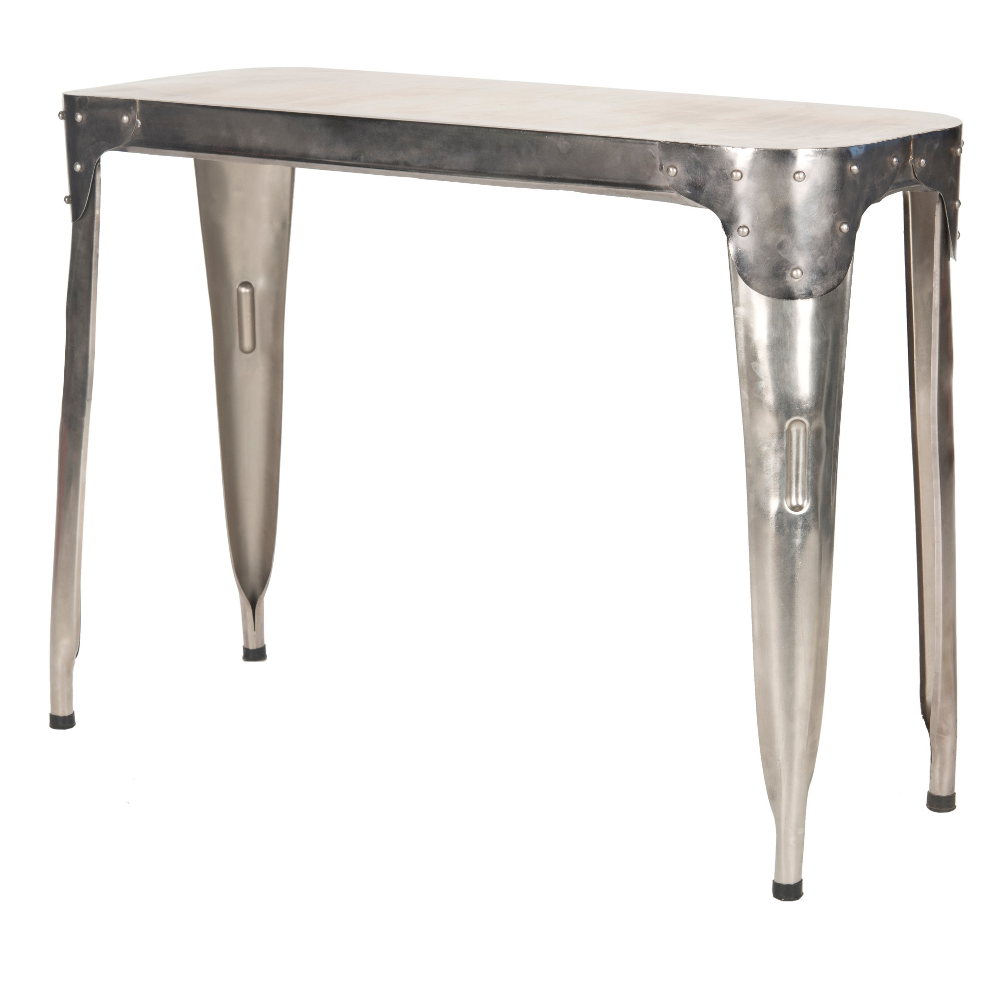 Classic Iron Console Table Silver – Safavieh | Products | Console Throughout Parsons White Marble Top & Dark Steel Base 48X16 Console Tables (Gallery 4 of 20)