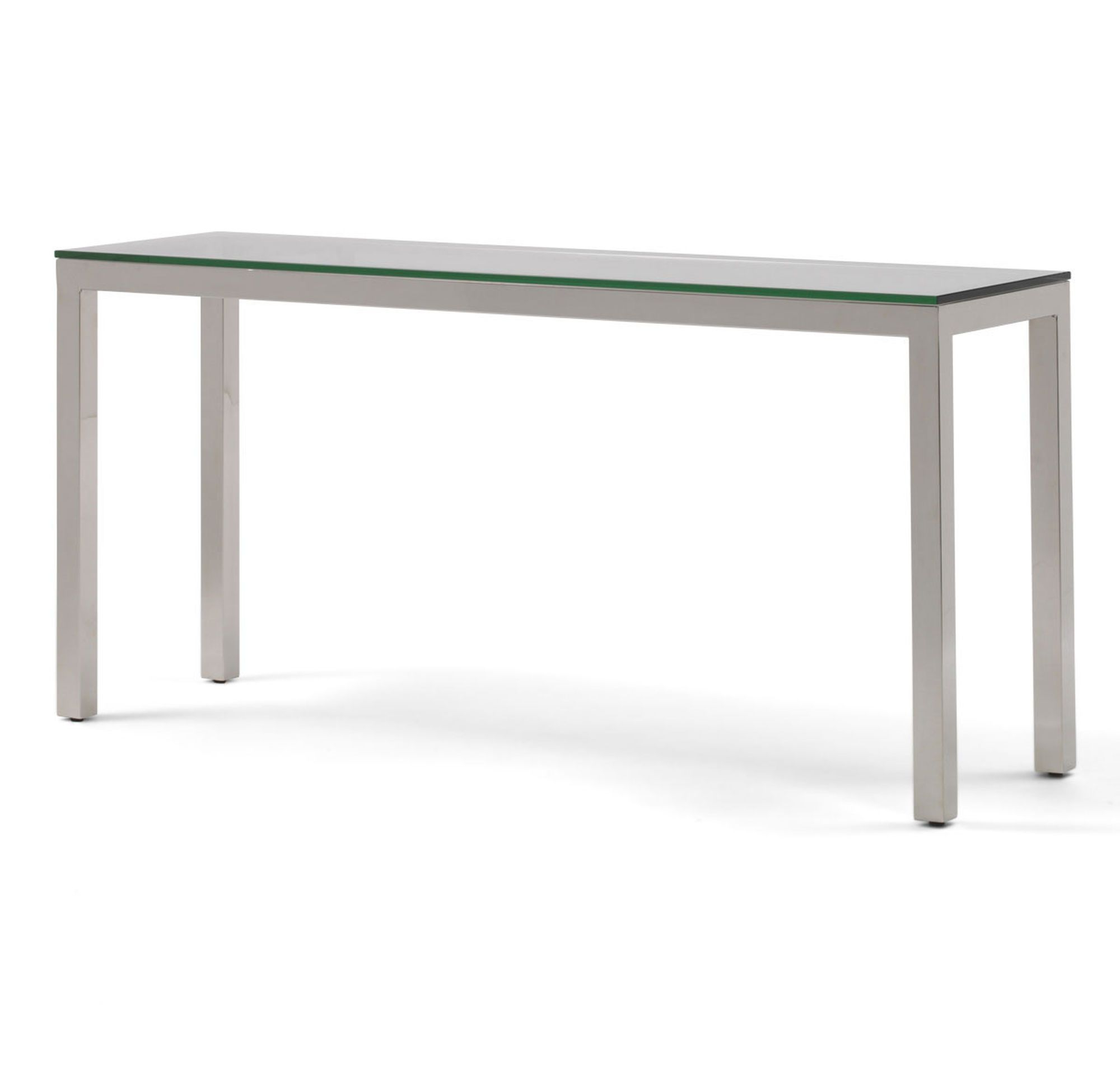 Classic Parsons Console Table – Polished Stainless Steel, , Hi Res In Parsons Clear Glass Top & Brass Base 48X16 Console Tables (View 5 of 20)