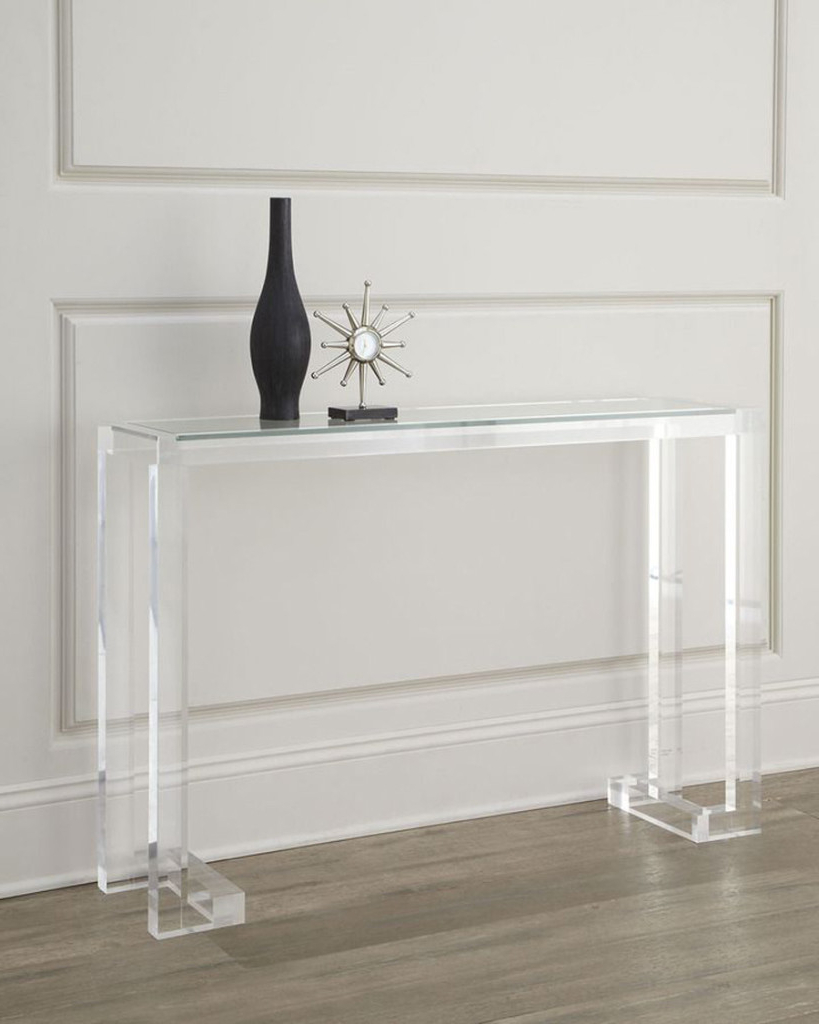 Clear Narrow Depth Console Table : Console Table – Favorite Narrow Pertaining To Echelon Console Tables (View 3 of 20)