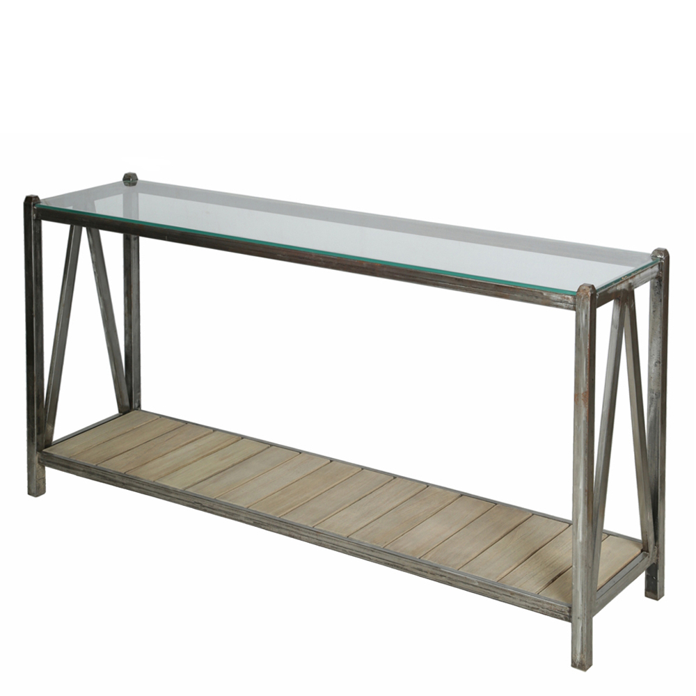 Console Metal Top Glass Rome – Domicil Living Inside Roman Metal Top Console Tables (Gallery 10 of 20)