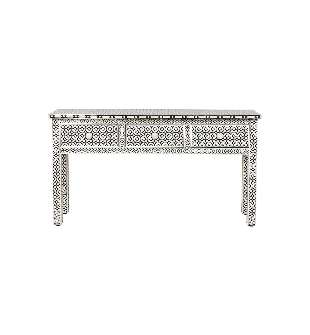Console Table / Desks 3 Archives – Luxury Handicrafts | Bone Inlay For Archive Grey Console Tables (View 3 of 20)
