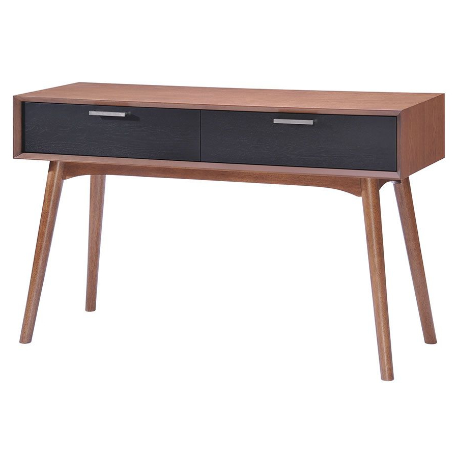 Console Table Walnut Shaker Style – 48 Inches | Furniture Ideas In Parsons Clear Glass Top & Stainless Steel Base 48x16 Console Tables (View 7 of 20)