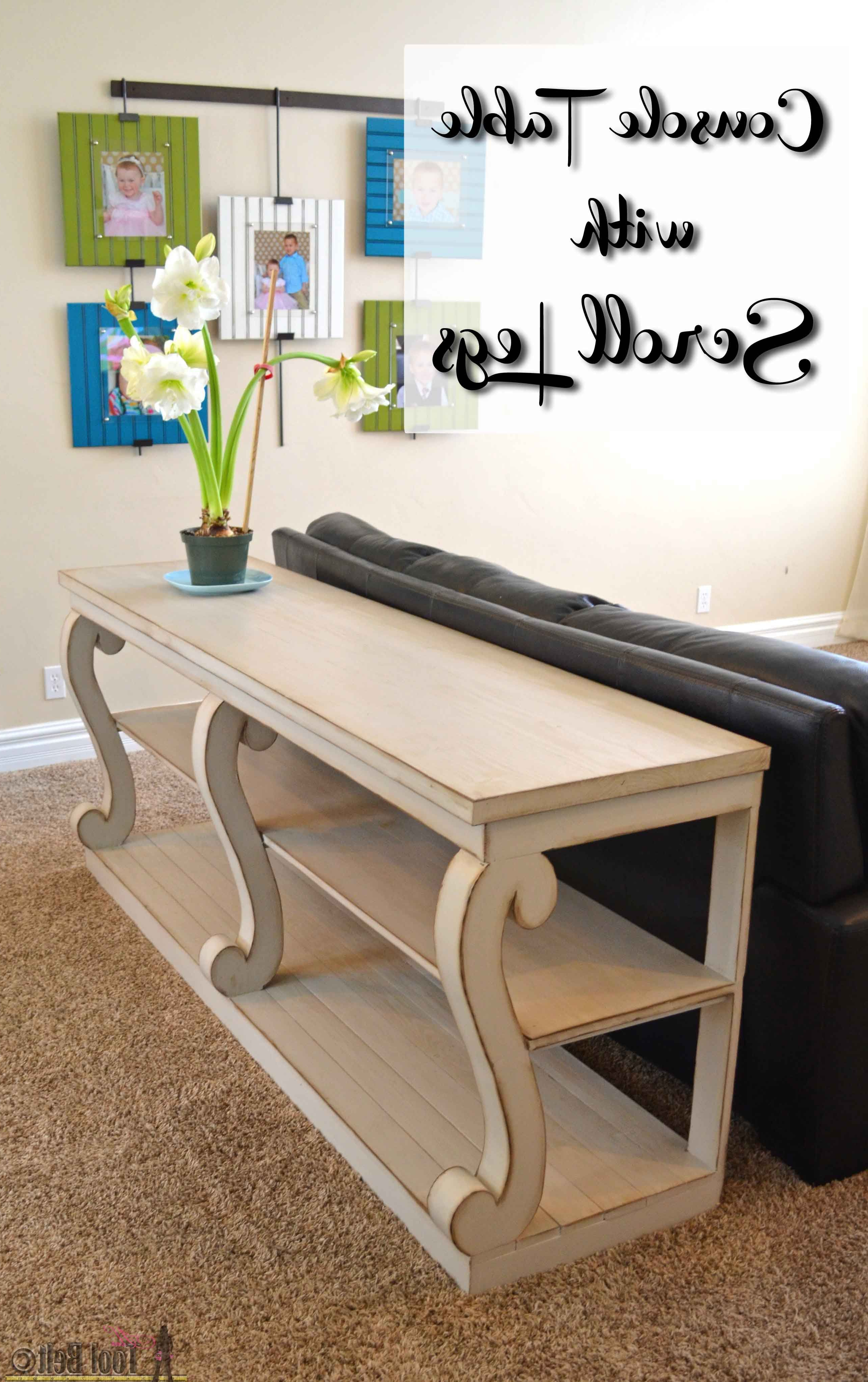 Console Table With Scroll Legs | Projects To Work On! | Woodworking For Walters Media Console Tables (Gallery 10 of 20)