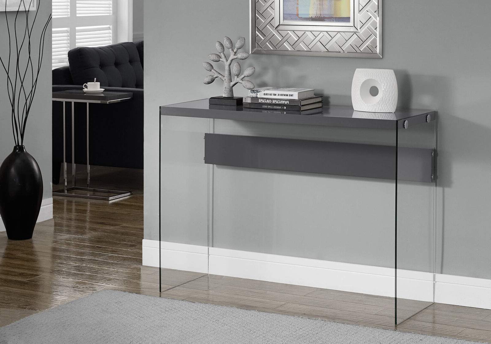 Console Tables For Entryway Behind Sofa Storage Glass Small Writing Inside Ventana Display Console Tables (View 17 of 20)