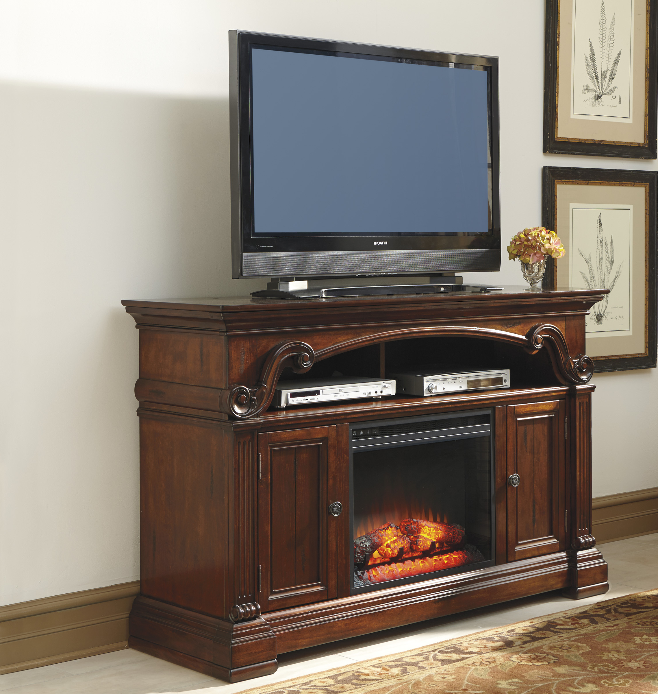 Cool Tv Console With Fireplace For 58 Inch Simple Modern Fireplace Pertaining To Wyatt 68 Inch Tv Stands (View 16 of 20)