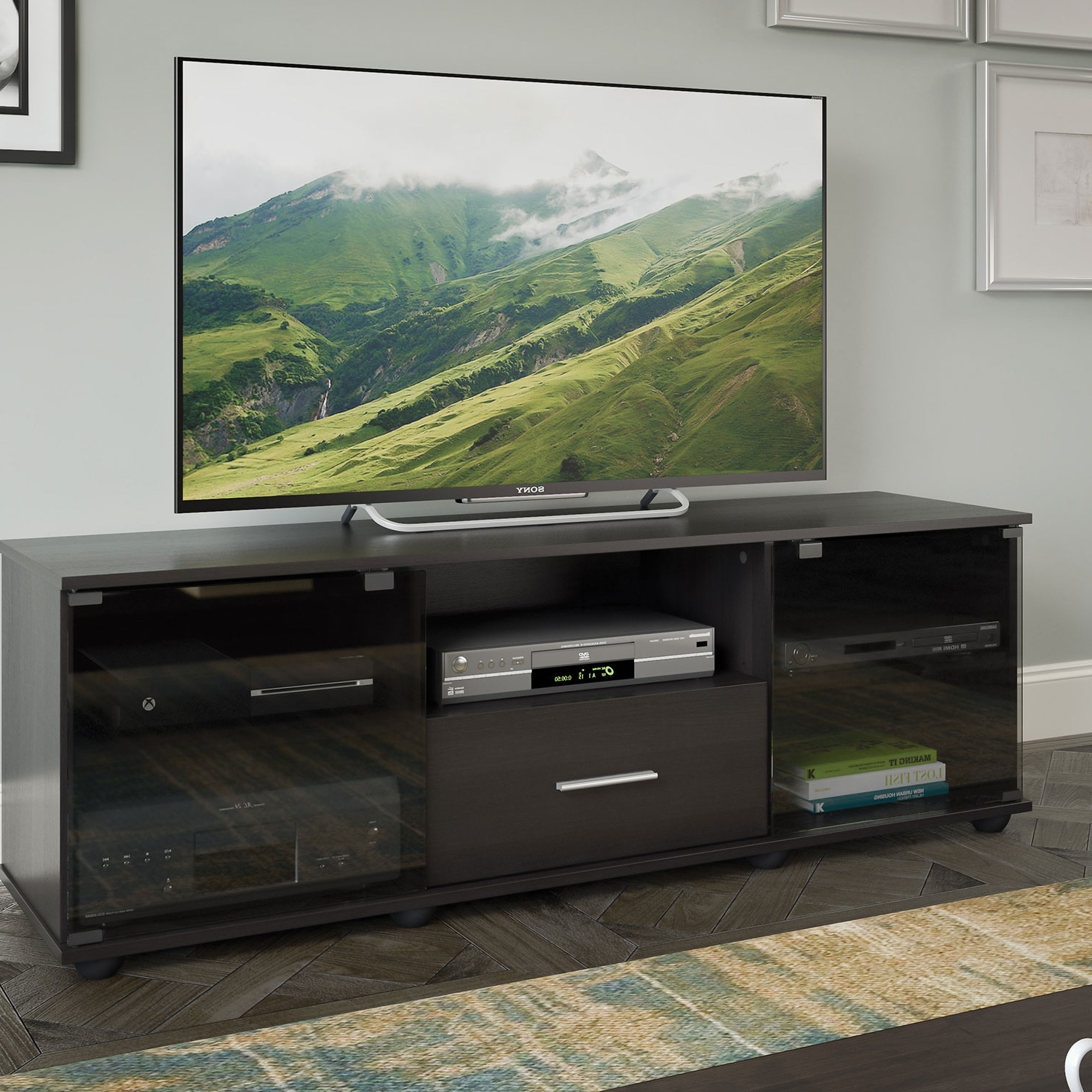"Corliving Fernbrook 70"" Tv Stand – Black : Tv Stands – Best Buy Canada In Valencia 70 Inch Tv Stands (View 3 of 20)"