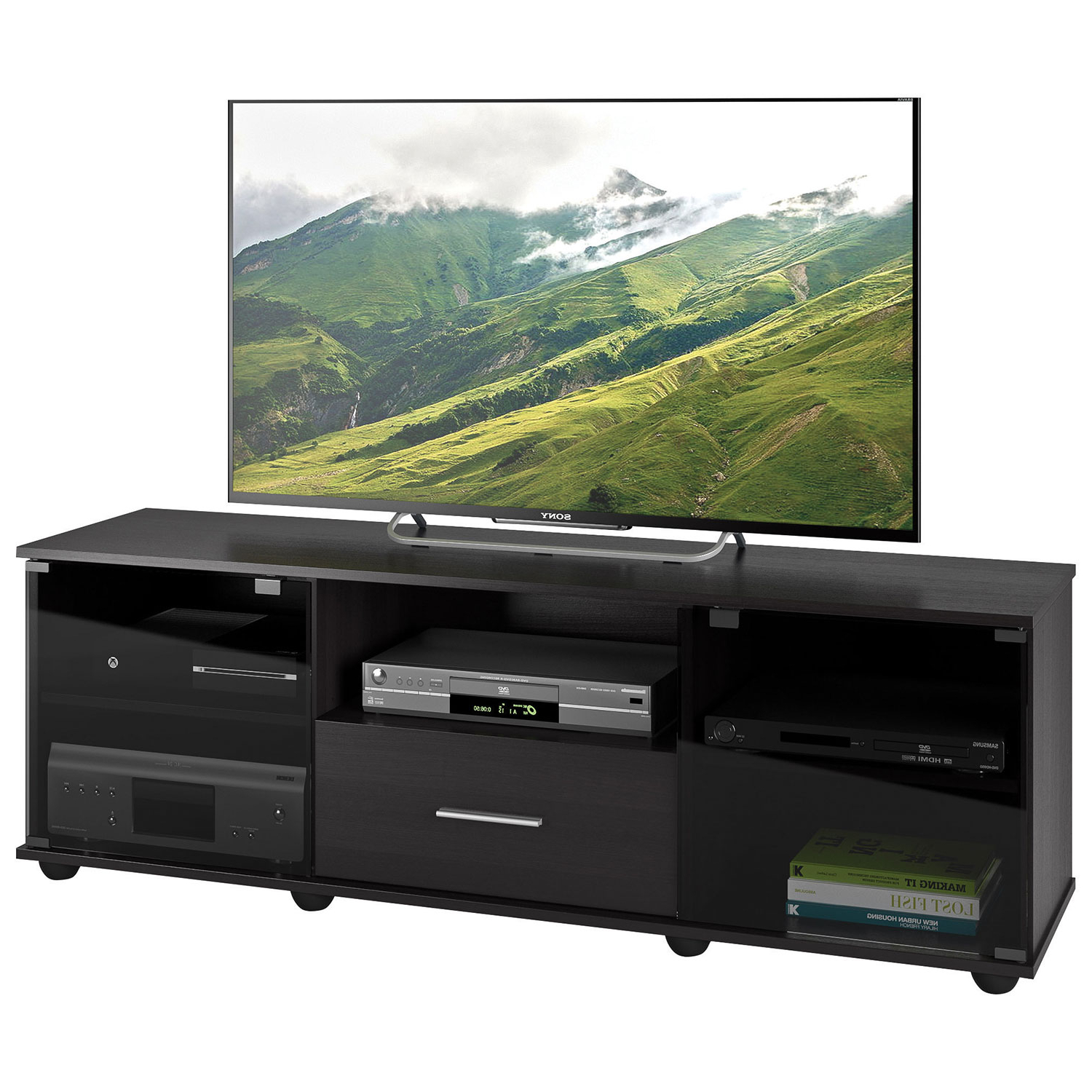 """Corliving Fernbrook 70"""" Tv Stand – Black : Tv Stands – Best Buy Canada Pertaining To Valencia 60 Inch Tv Stands (Gallery 6 of 20)"""