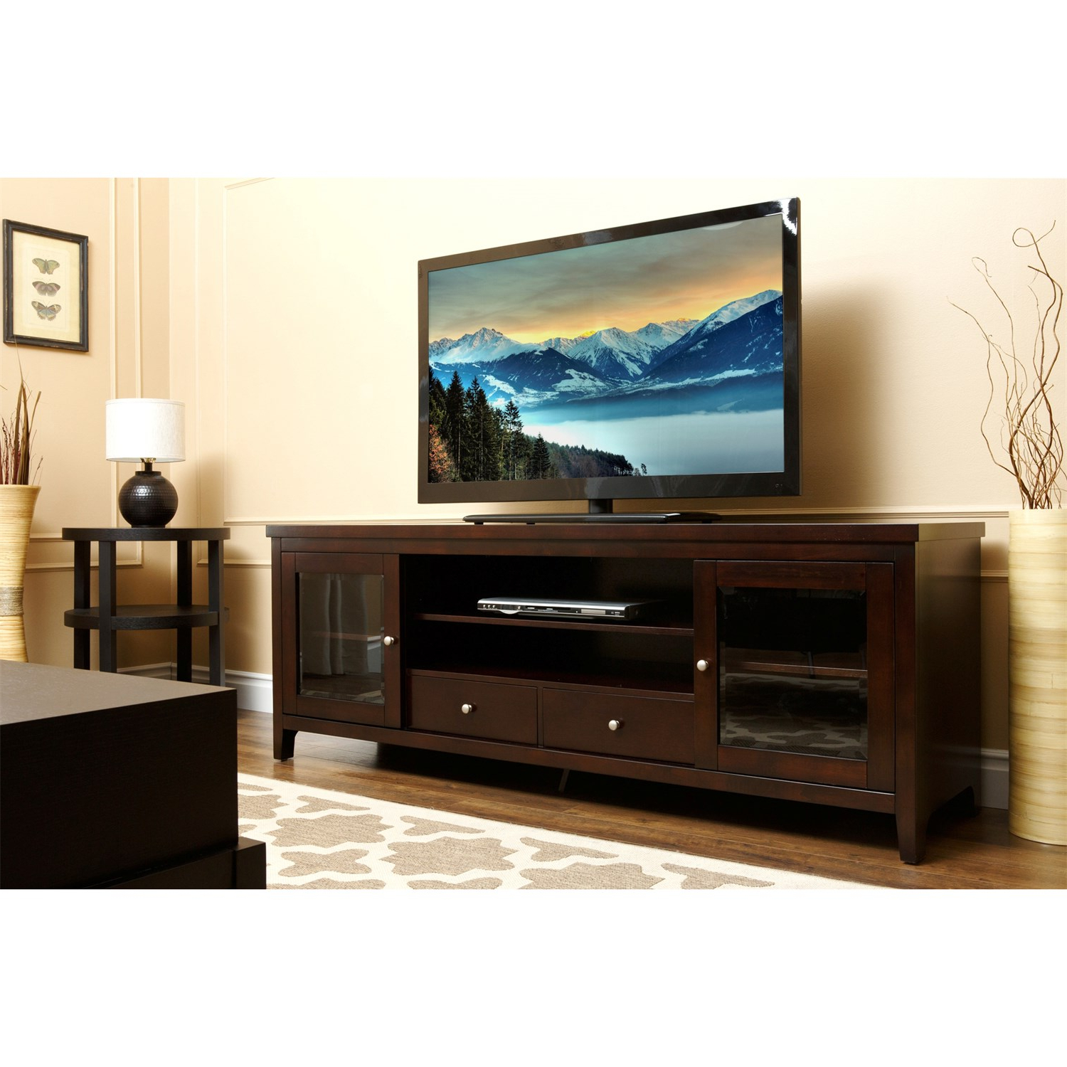 Costco Electric Heater Fireplace Tv Stand Walmart Stands Big Lots Regarding Oxford 70 Inch Tv Stands (View 15 of 20)