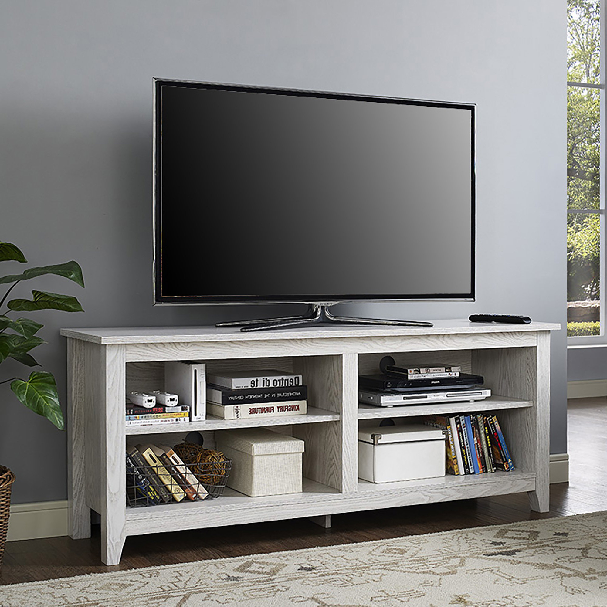 Cream Colored Tv Stands | Wayfair Regarding Century Blue 60 Inch Tv Stands (View 6 of 20)