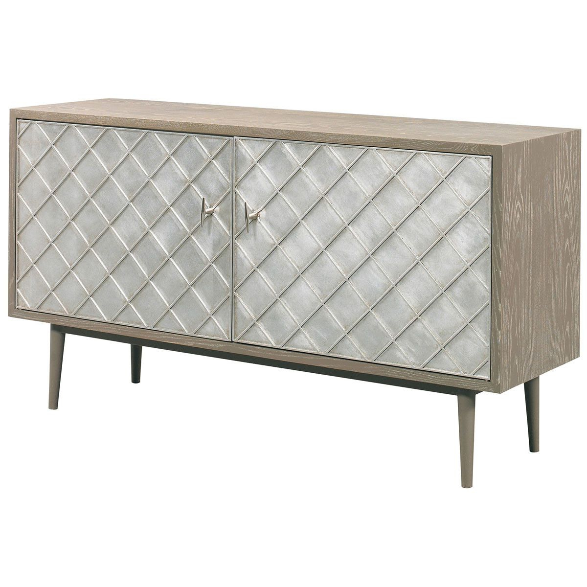 Cth Sherrill Occasional Vintage Made Modern Franco Media Cabinet Pertaining To Parsons Travertine Top & Stainless Steel Base 48x16 Console Tables (View 5 of 15)